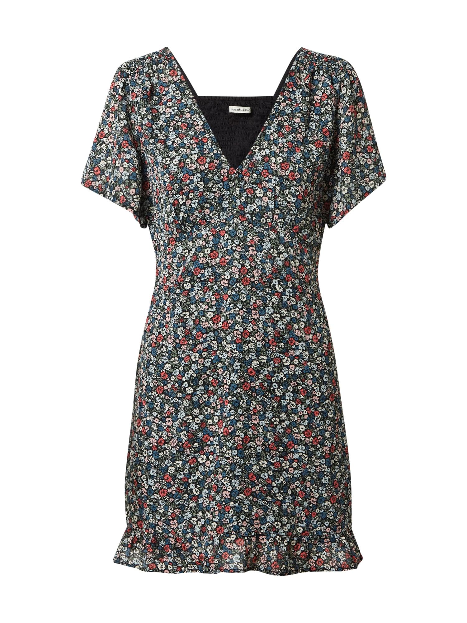 Abercrombie & Fitch Vasarinė suknelė juoda / mišrios spalvos