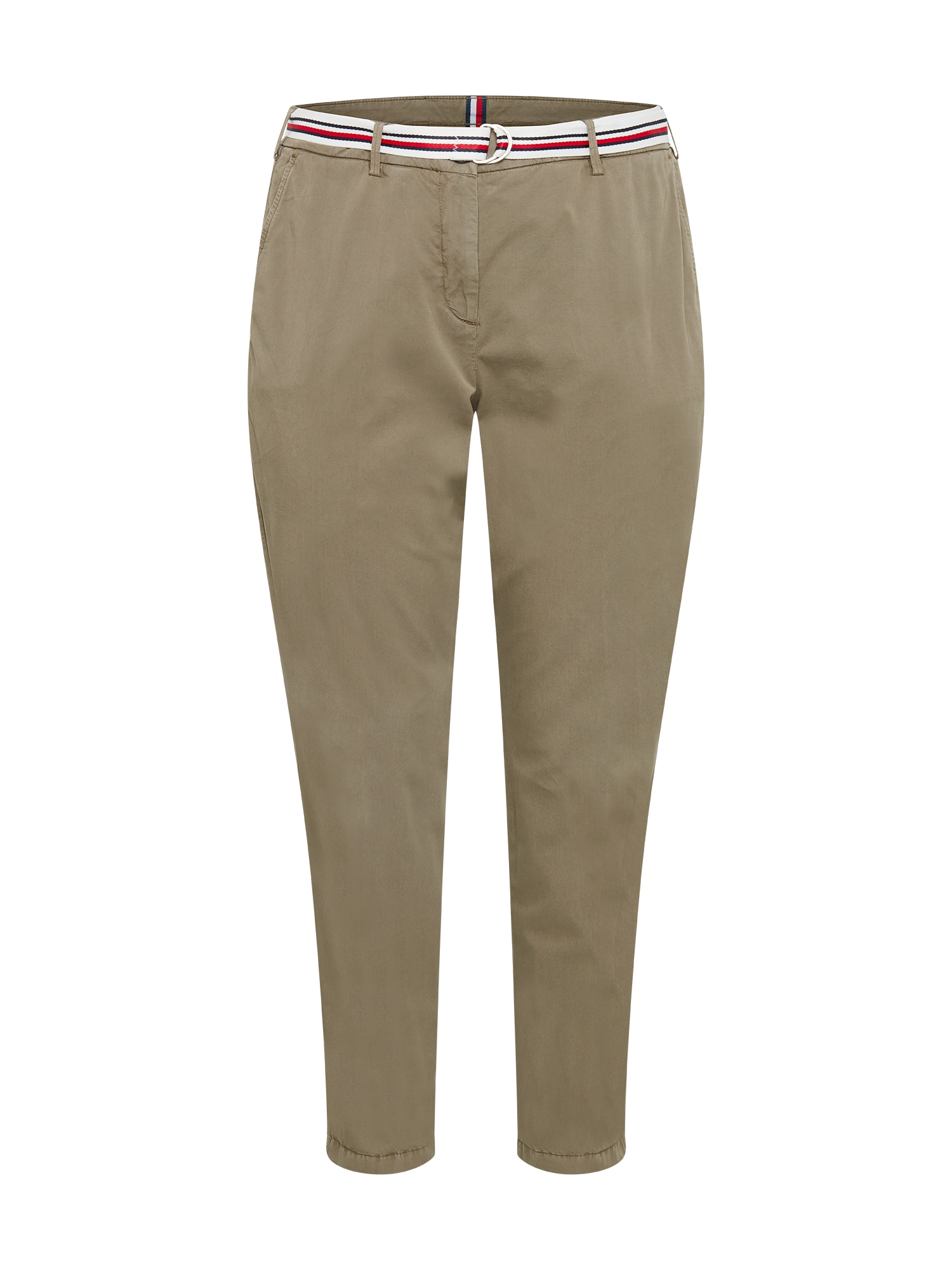 """Tommy Hilfiger Curve """"Chino"""" stiliaus kelnės rusvai žalia"""