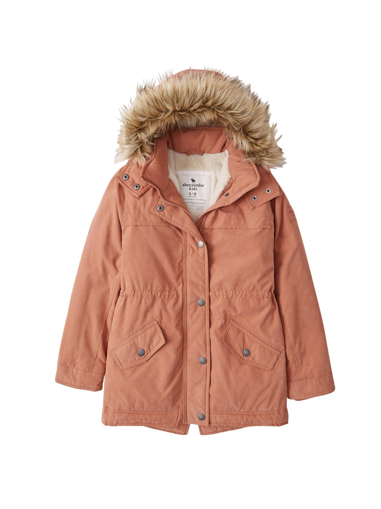 Abercrombie & Fitch Žieminė striukė ruda
