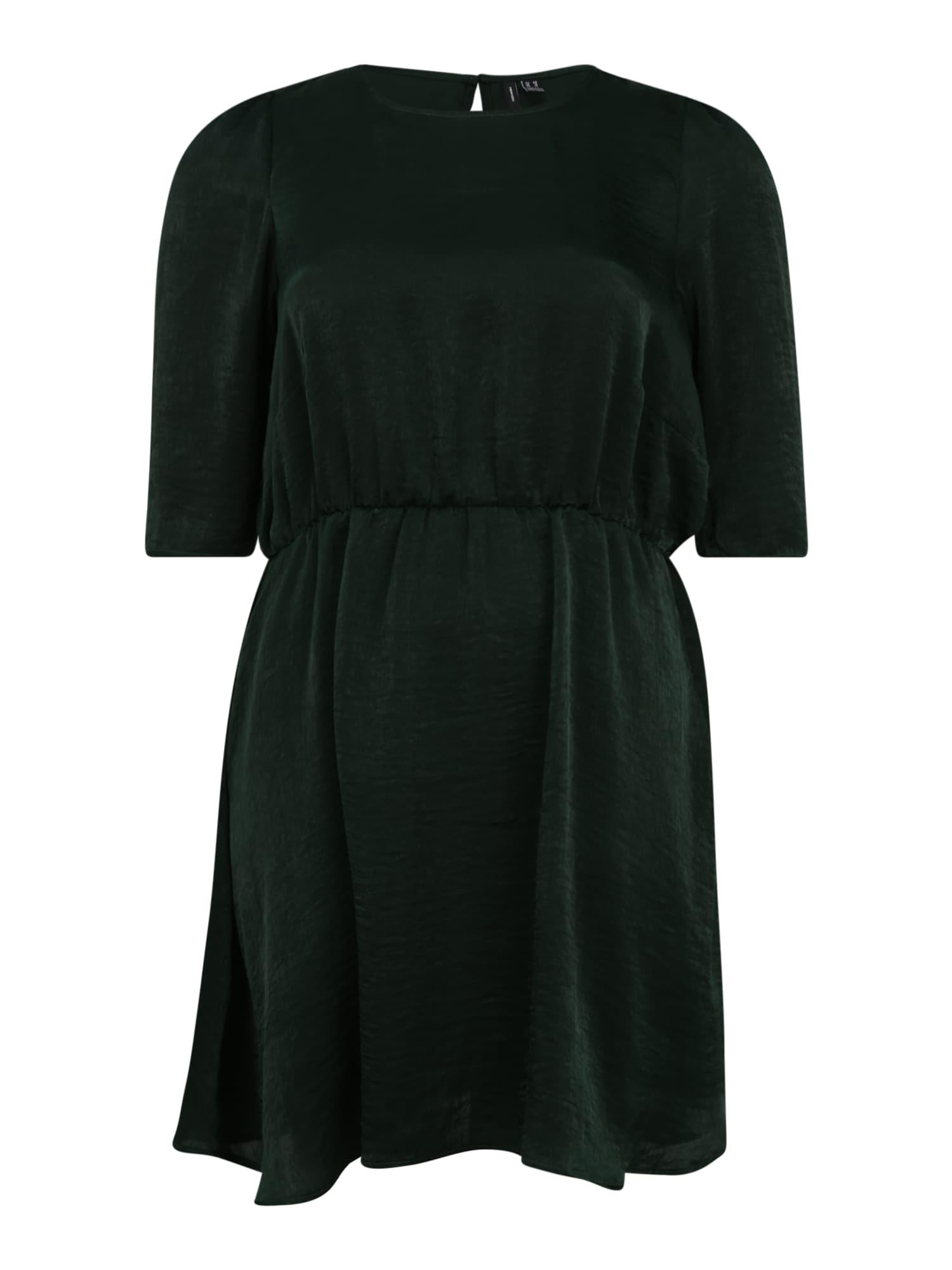 Vero Moda Curve Šaty 'Jenice'  tmavě zelená