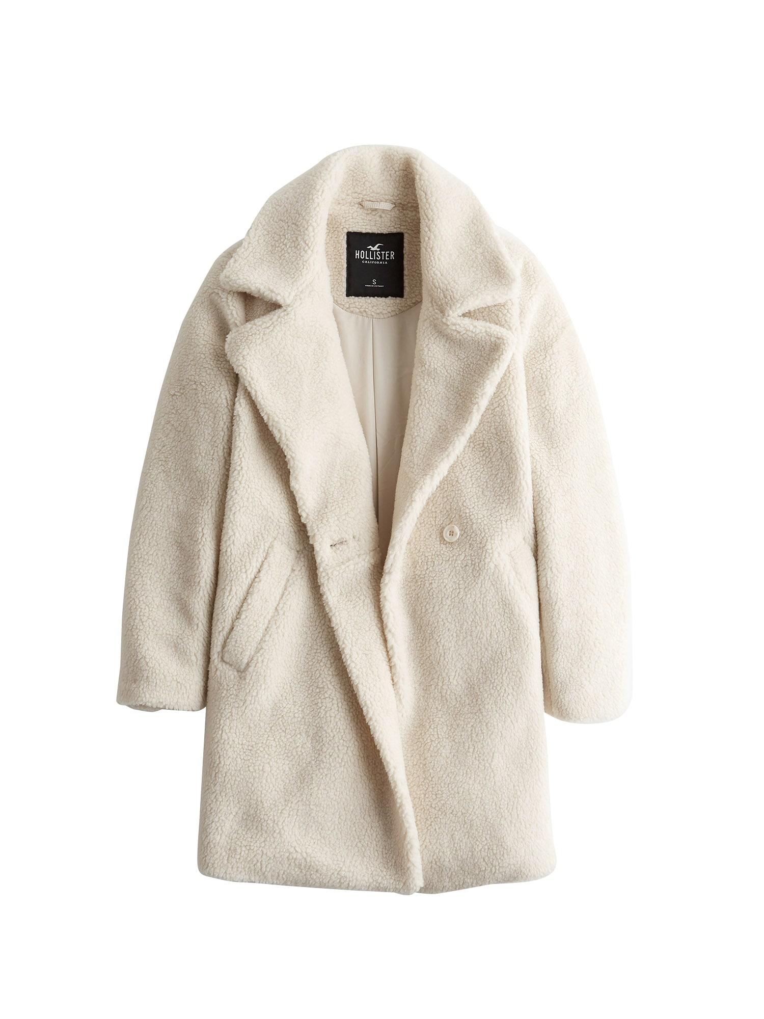 HOLLISTER Žieminis paltas kremo