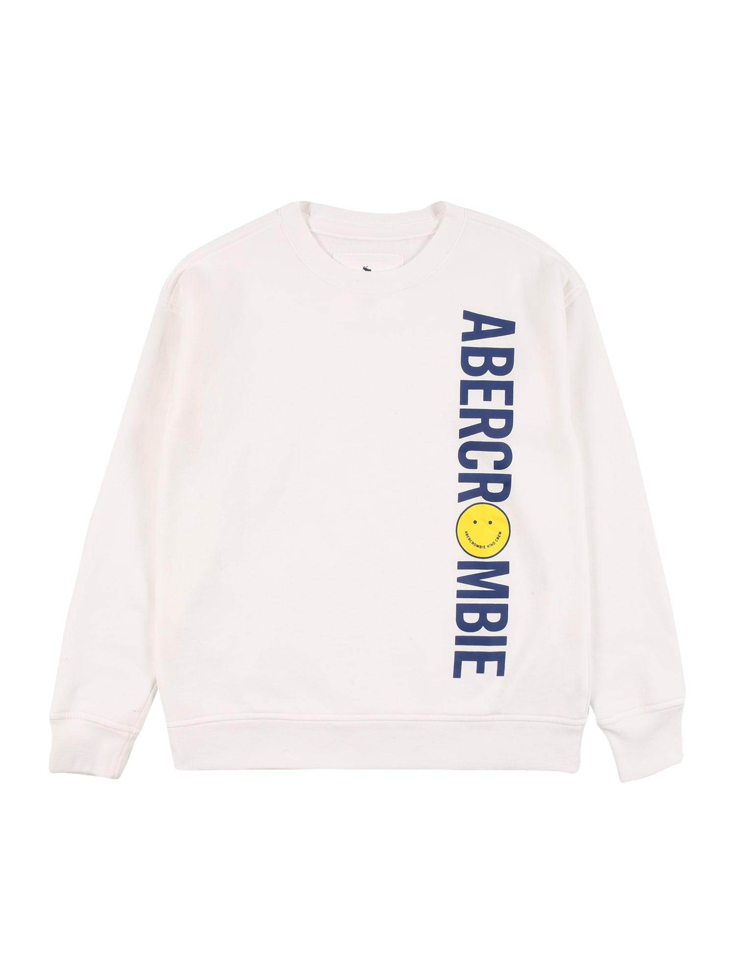 Abercrombie & Fitch Marškinėliai balta / mėlyna / geltona