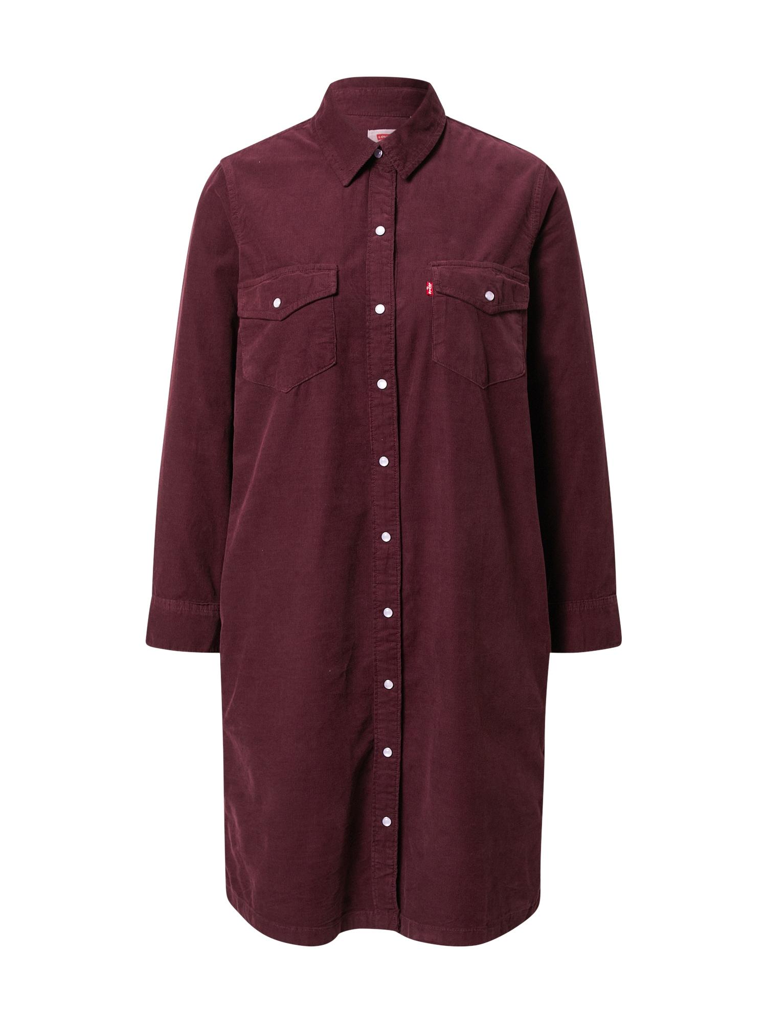LEVI'S Košilové šaty 'Selma'  vínově červená