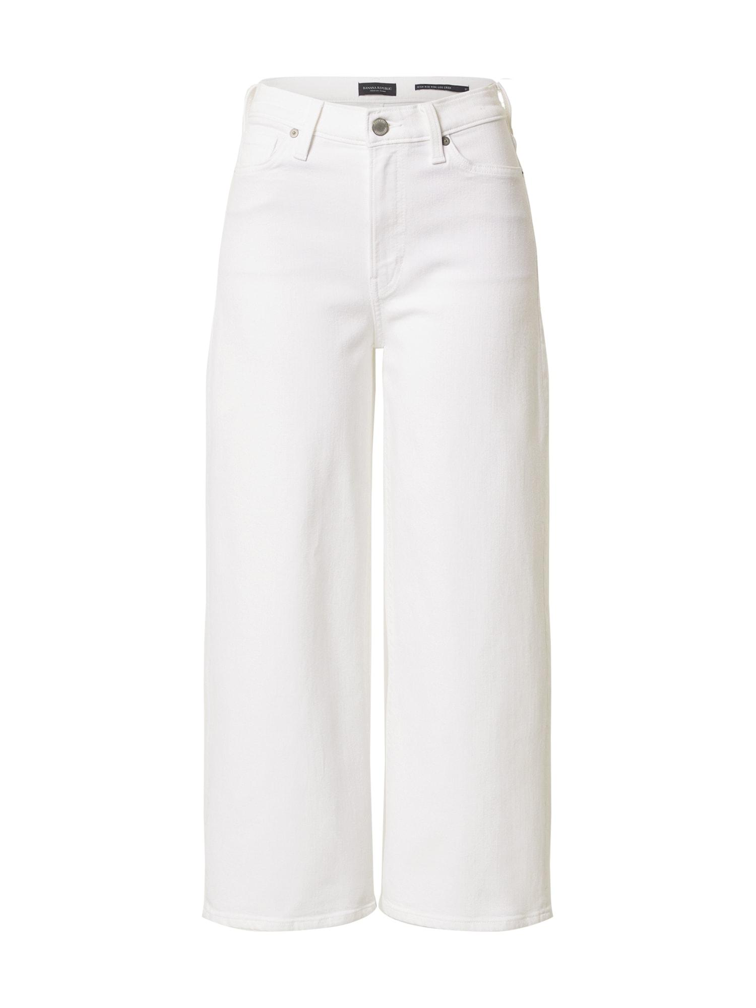 Banana Republic Džinsai balto džinso spalva