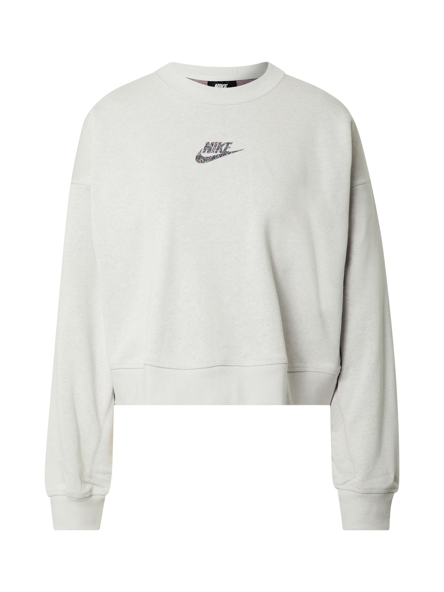 Nike Sportswear Mikina 'Crew'  černá / šedá