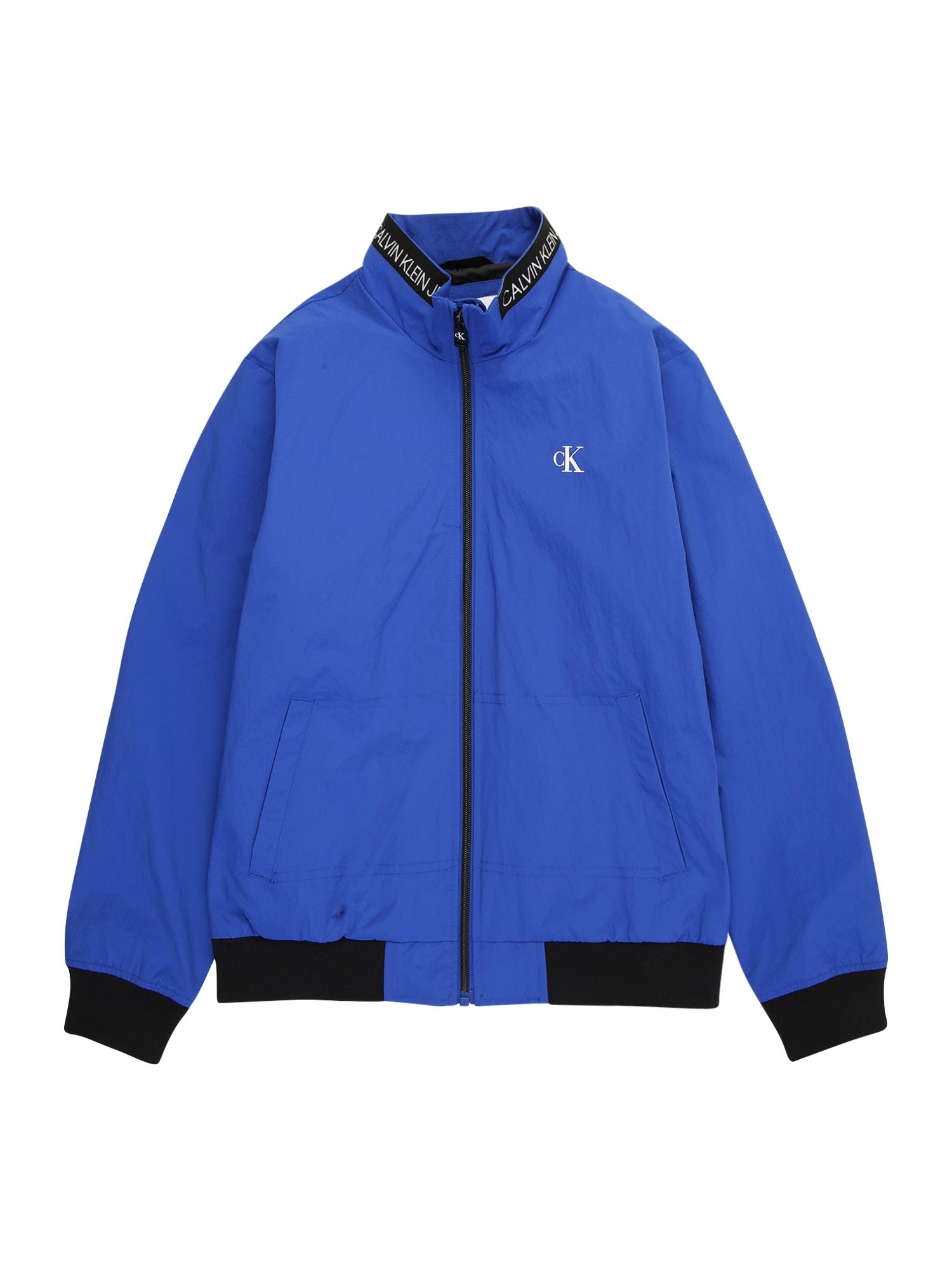 "Calvin Klein Jeans Demisezoninė striukė sodri mėlyna (""karališka"") / balta"