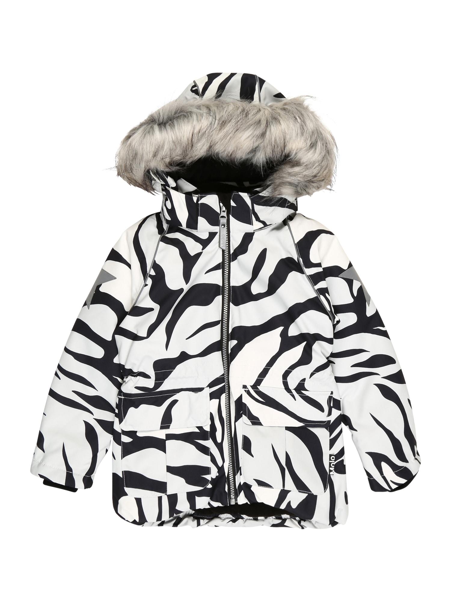 Molo Zimná bunda 'Cathy'  biela / čierna