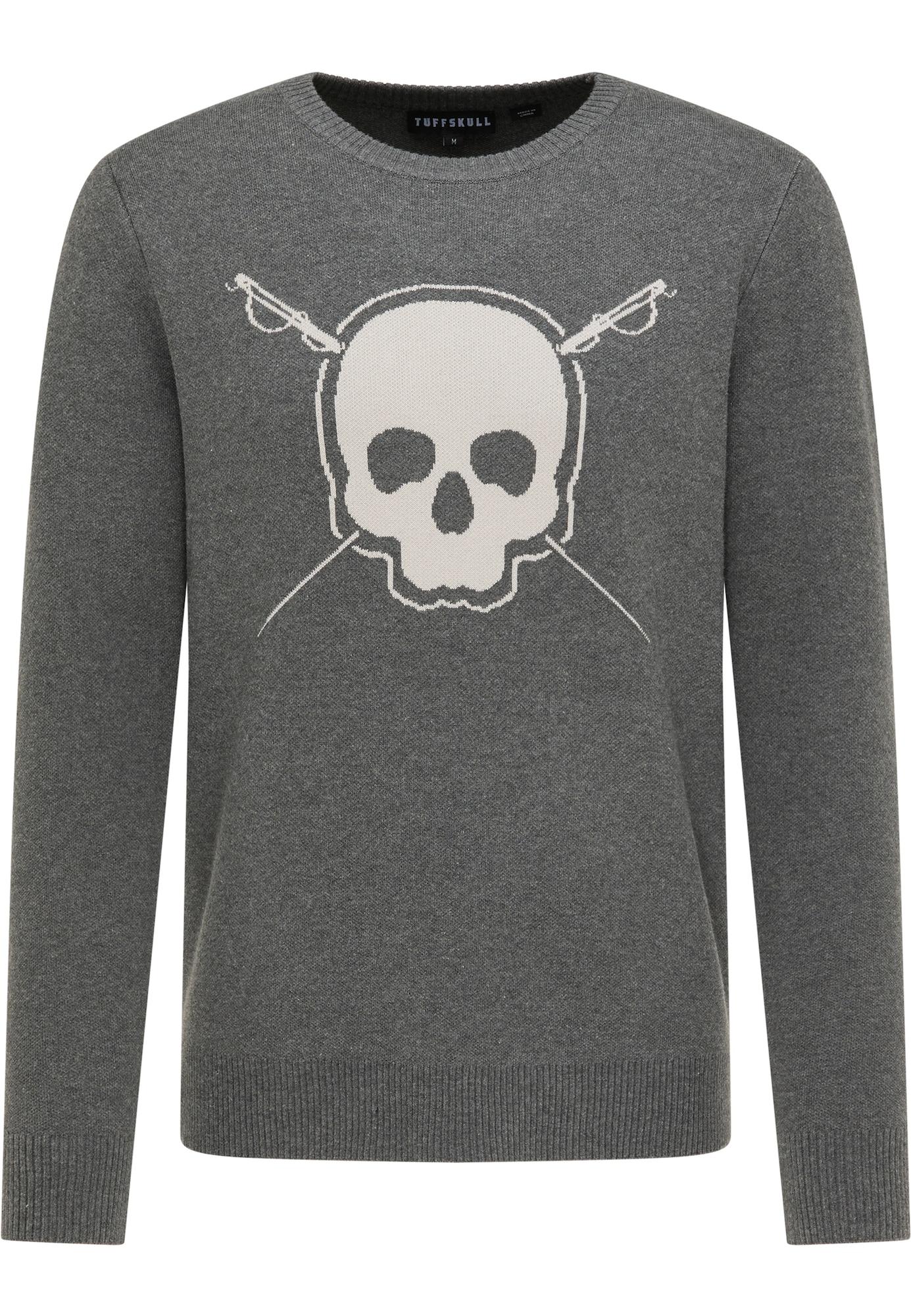 TUFFSKULL Megztinis tamsiai pilka / šviesiai pilka