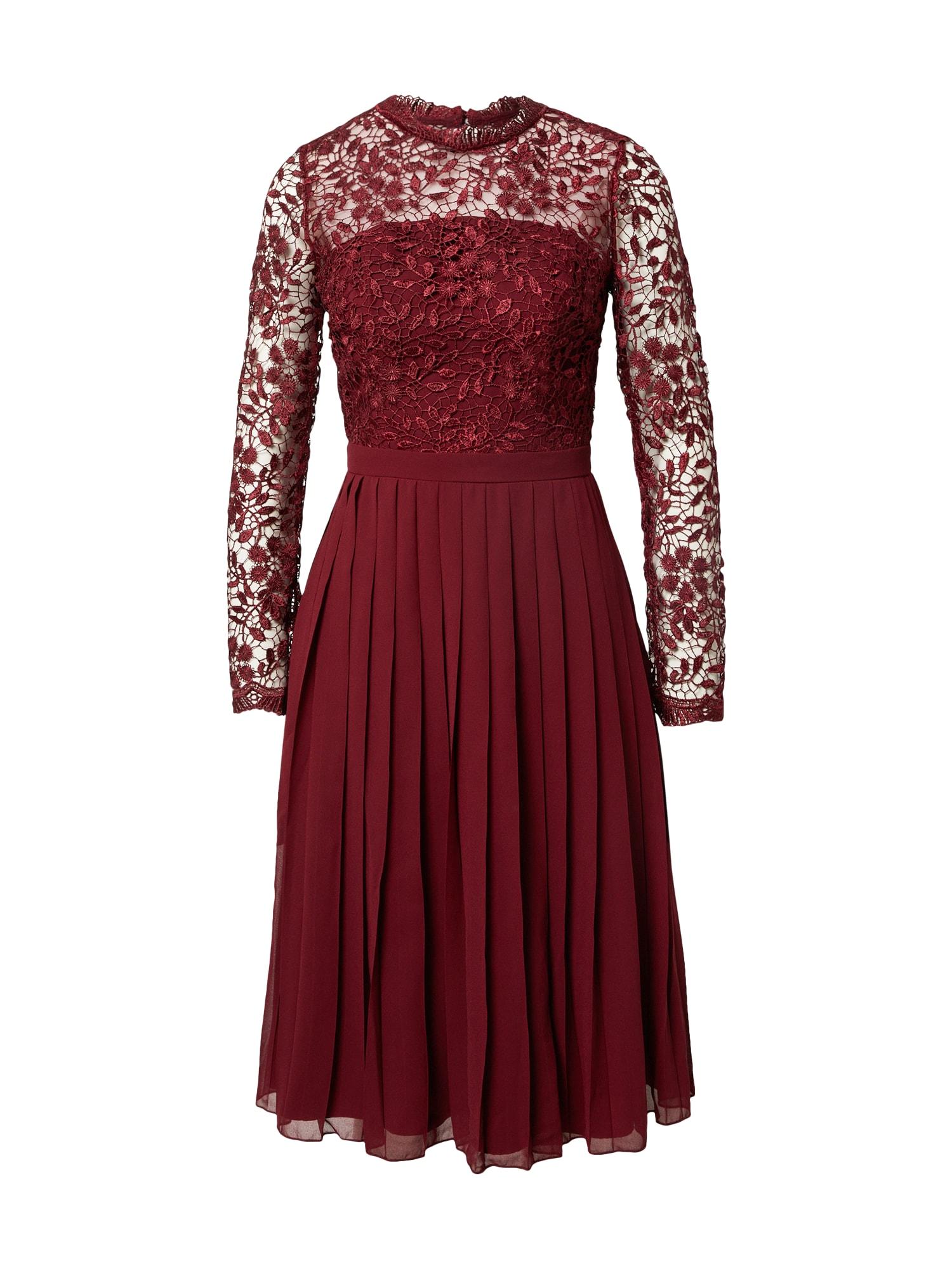 Chi Chi London Suknelė burgundiško vyno spalva