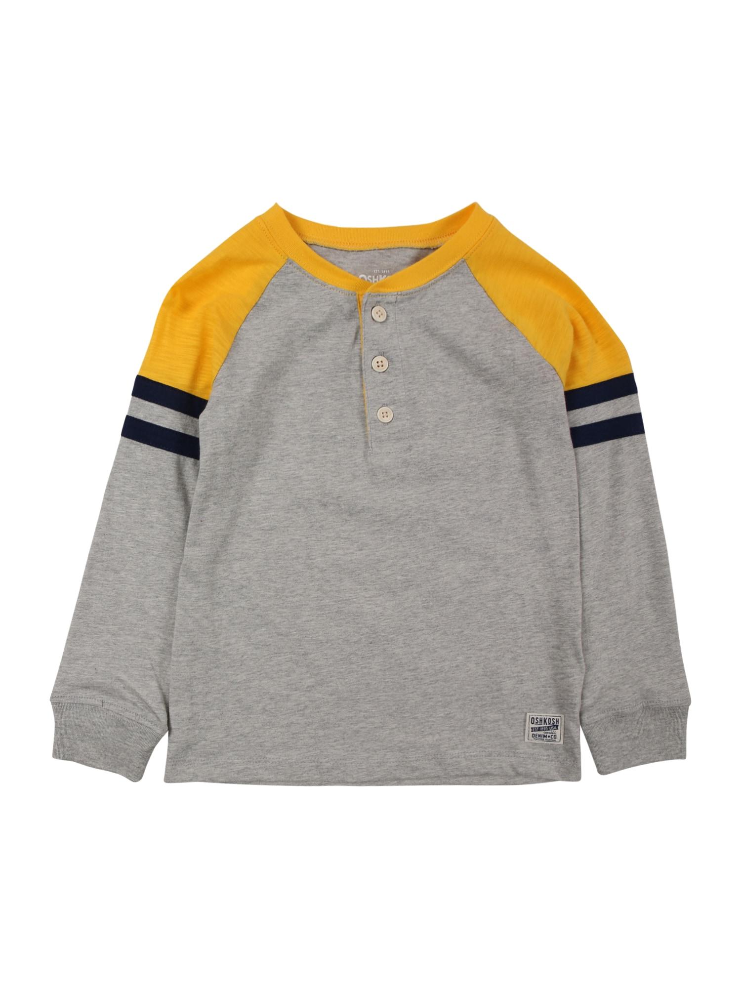 OshKosh Marškinėliai margai pilka / aukso geltonumo spalva / tamsiai mėlyna jūros spalva