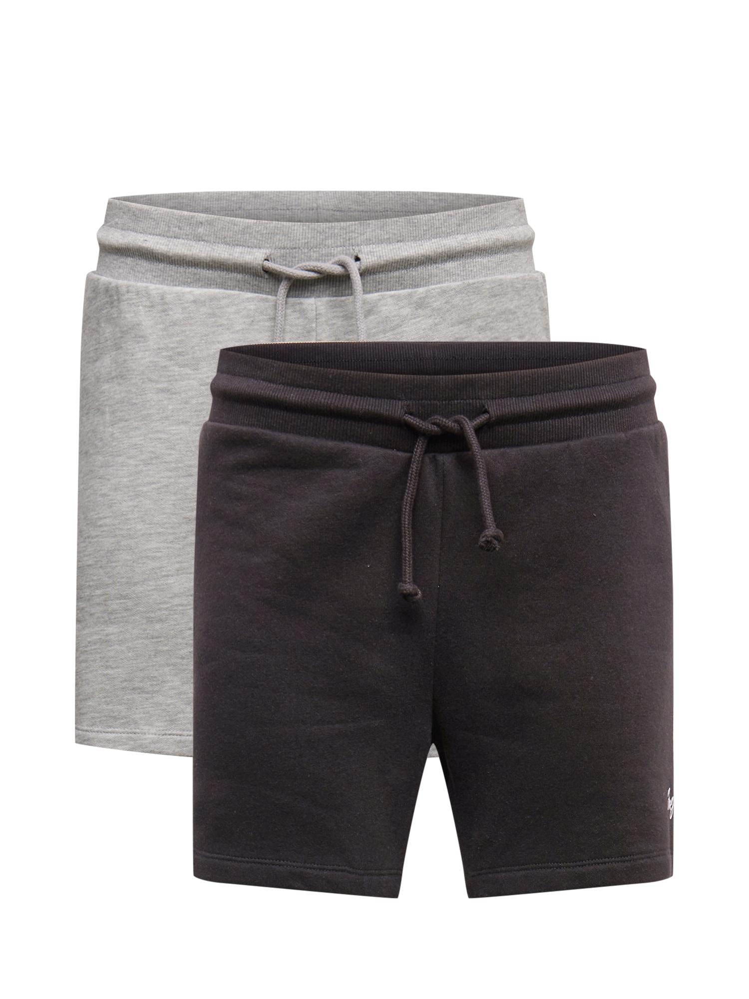 JACK & JONES Kelnės 'SIMONE' pilka / juoda