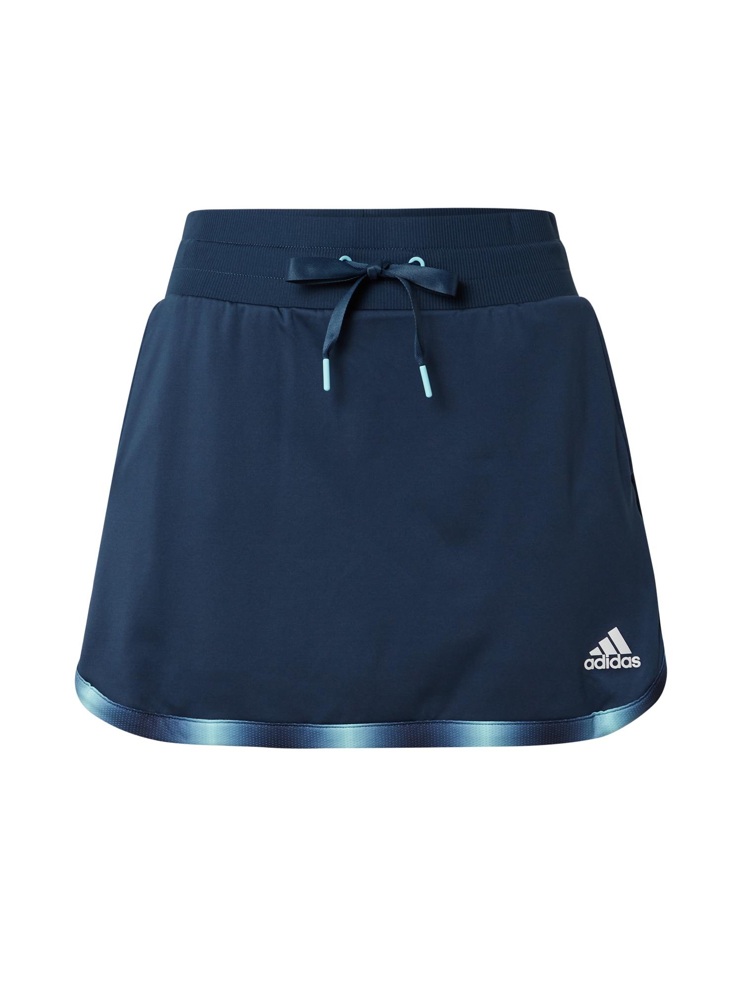 adidas Golf Sportinio stiliaus sijonas tamsiai mėlyna / balta / šviesiai mėlyna