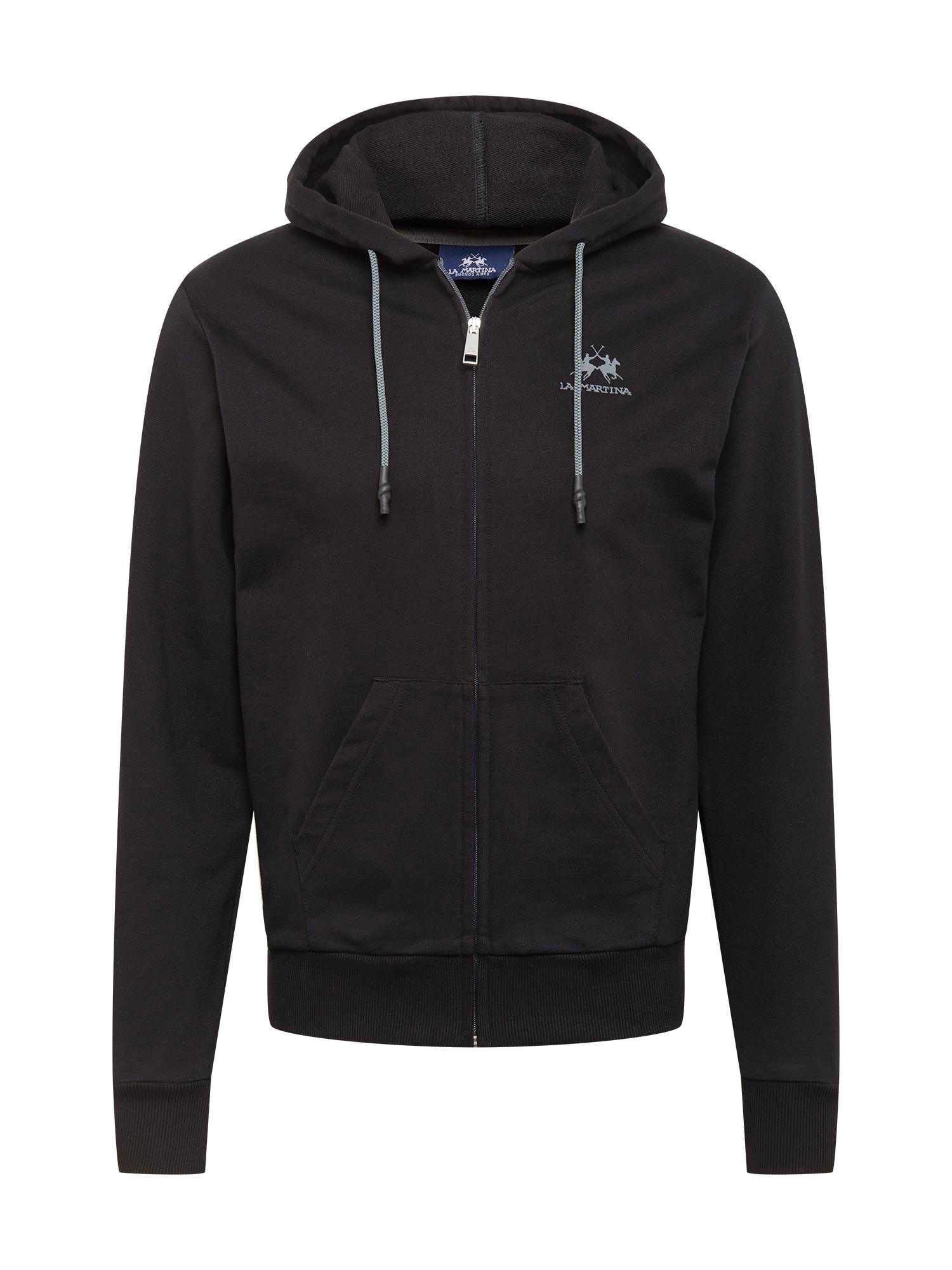 La Martina Džemperis juoda / bazalto pilka