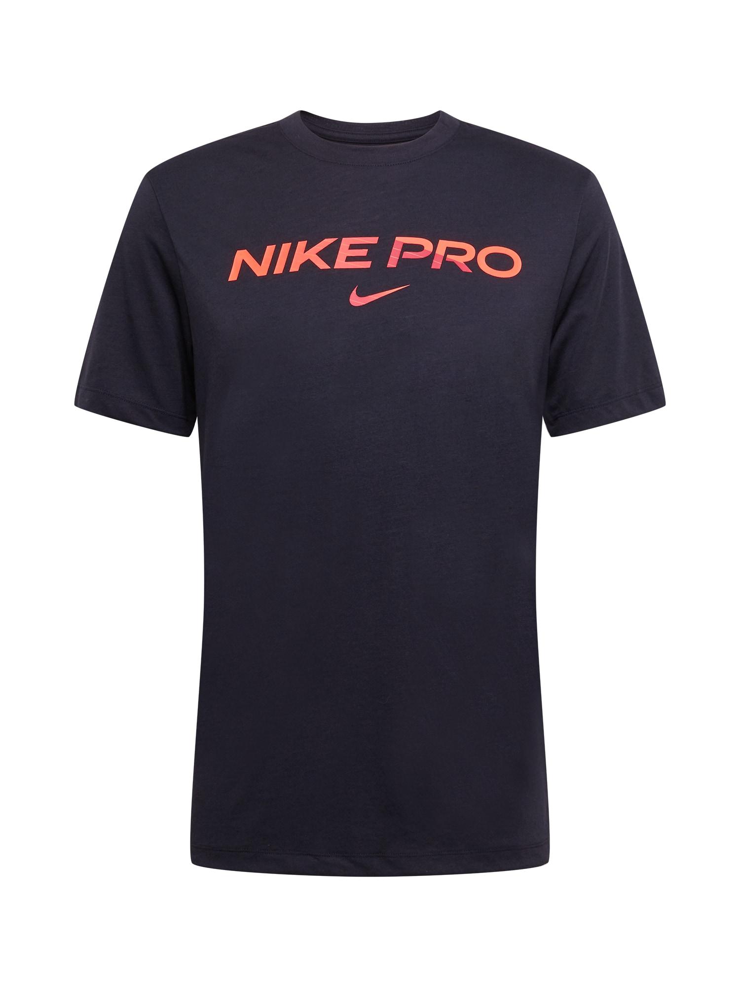 NIKE Sportiniai marškinėliai juoda / lašišų spalva