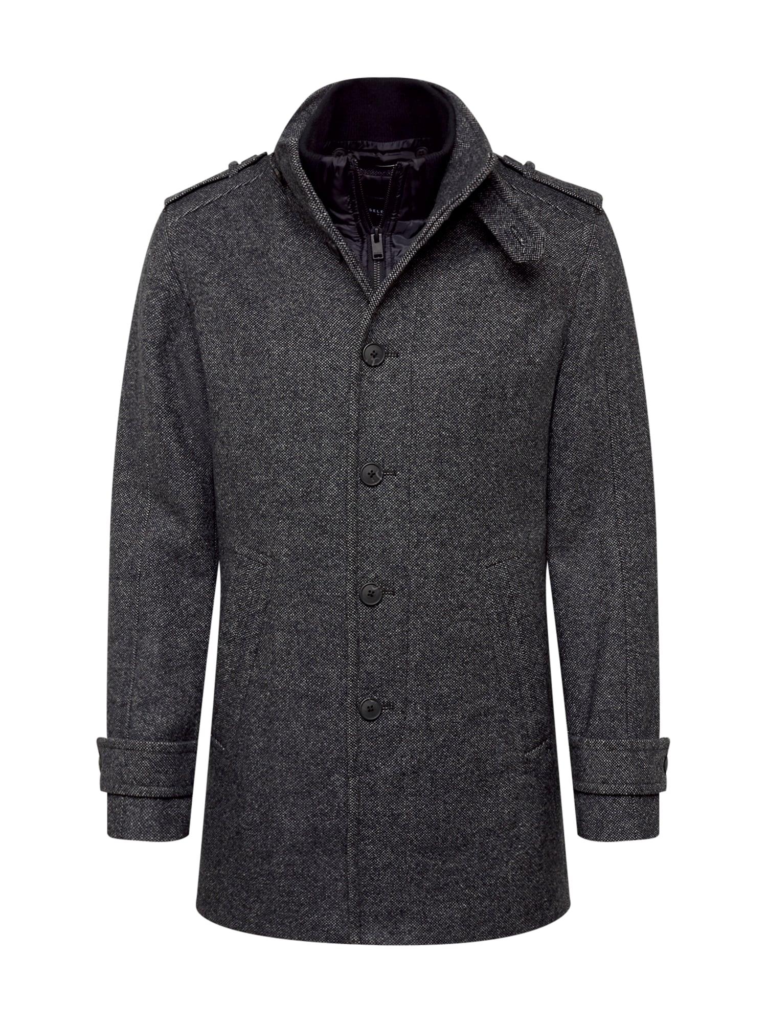 SELECTED HOMME Rudeninis-žieminis paltas tamsiai pilka