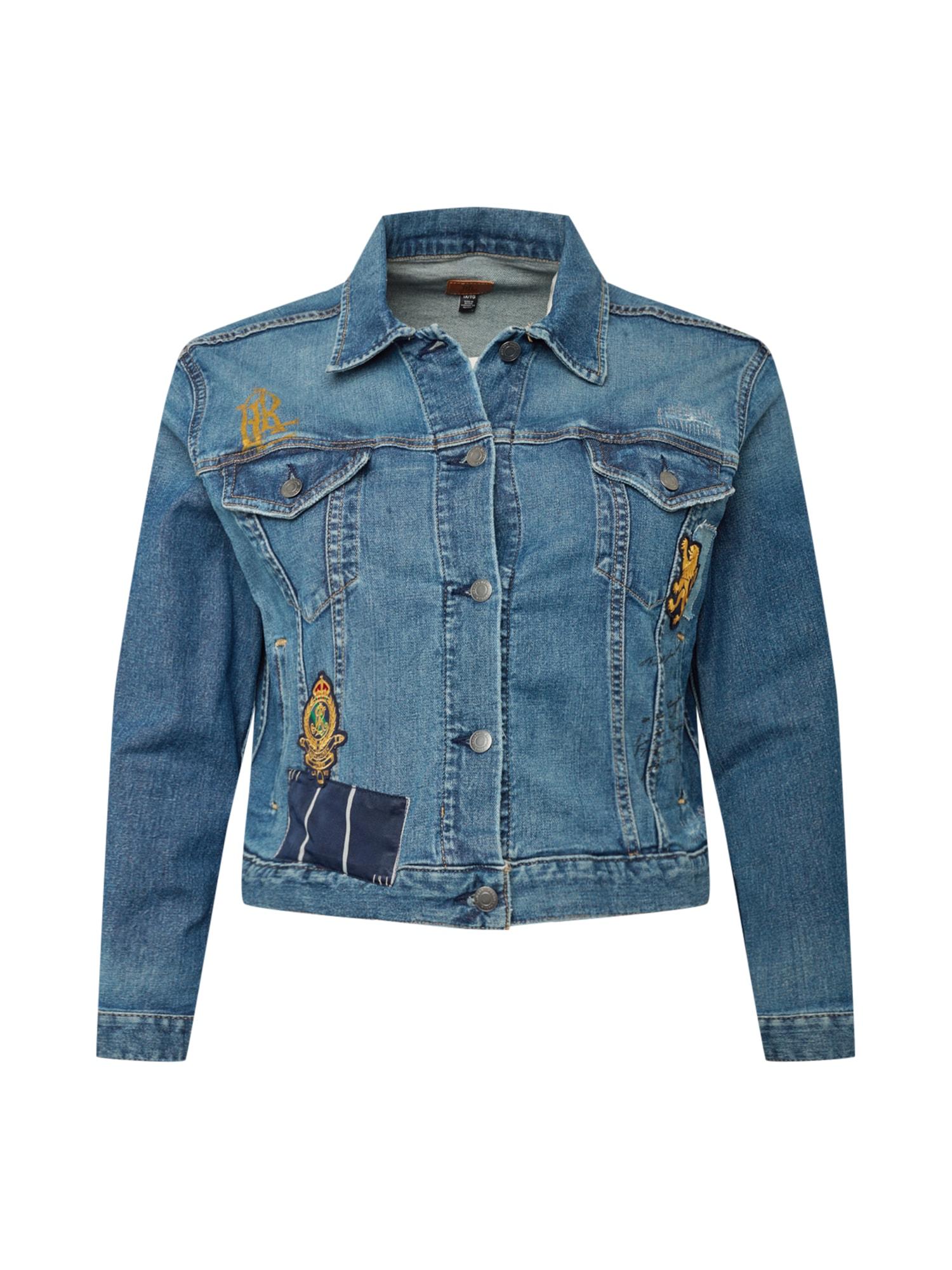 Lauren Ralph Lauren Demisezoninė striukė tamsiai (džinso) mėlyna / auksas / juoda