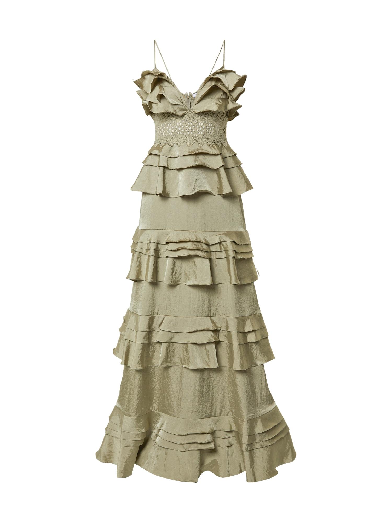 True Decadence Vakarinė suknelė rusvai žalia