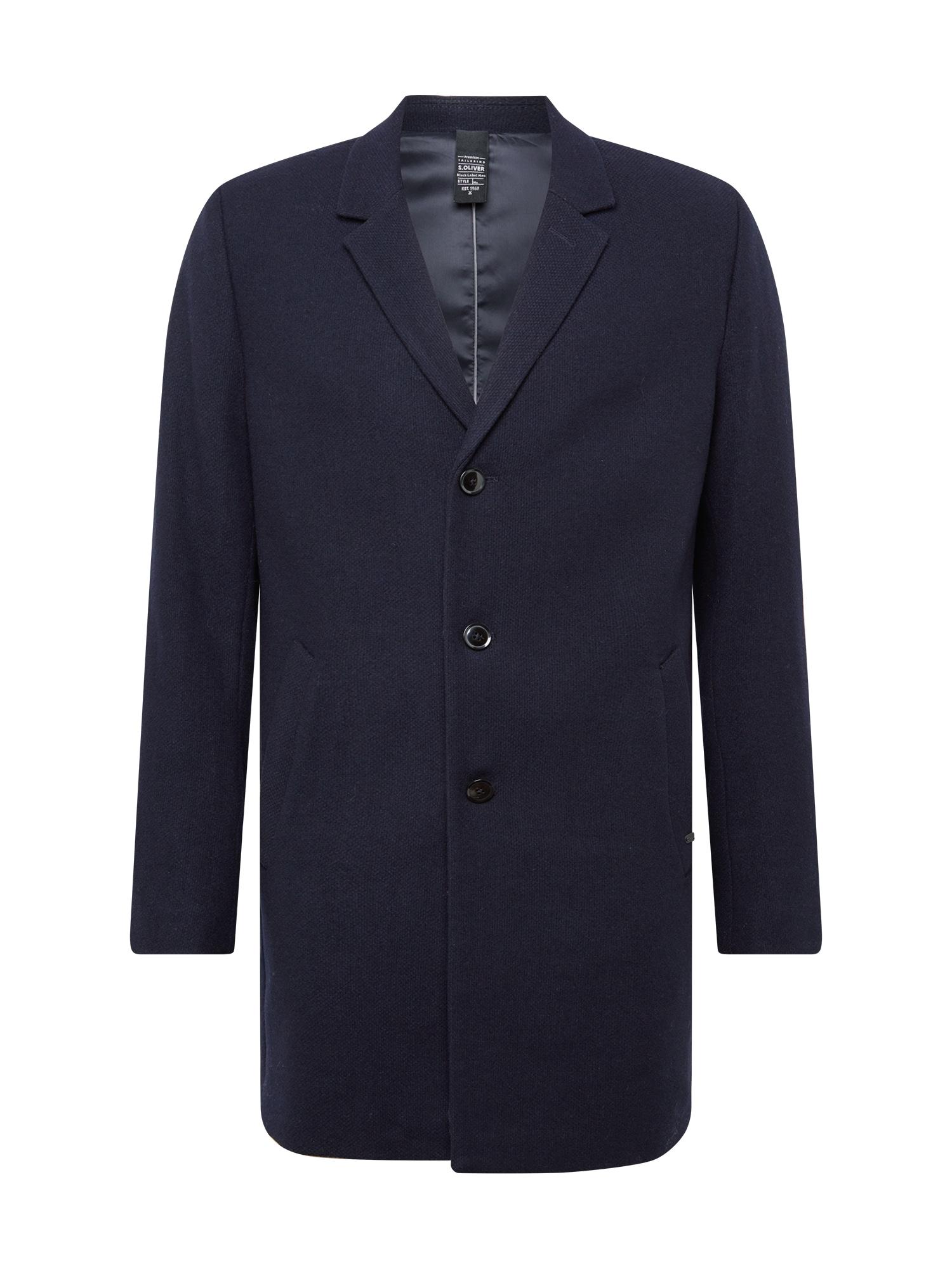 s.Oliver BLACK LABEL Demisezoninis paltas margai mėlyna