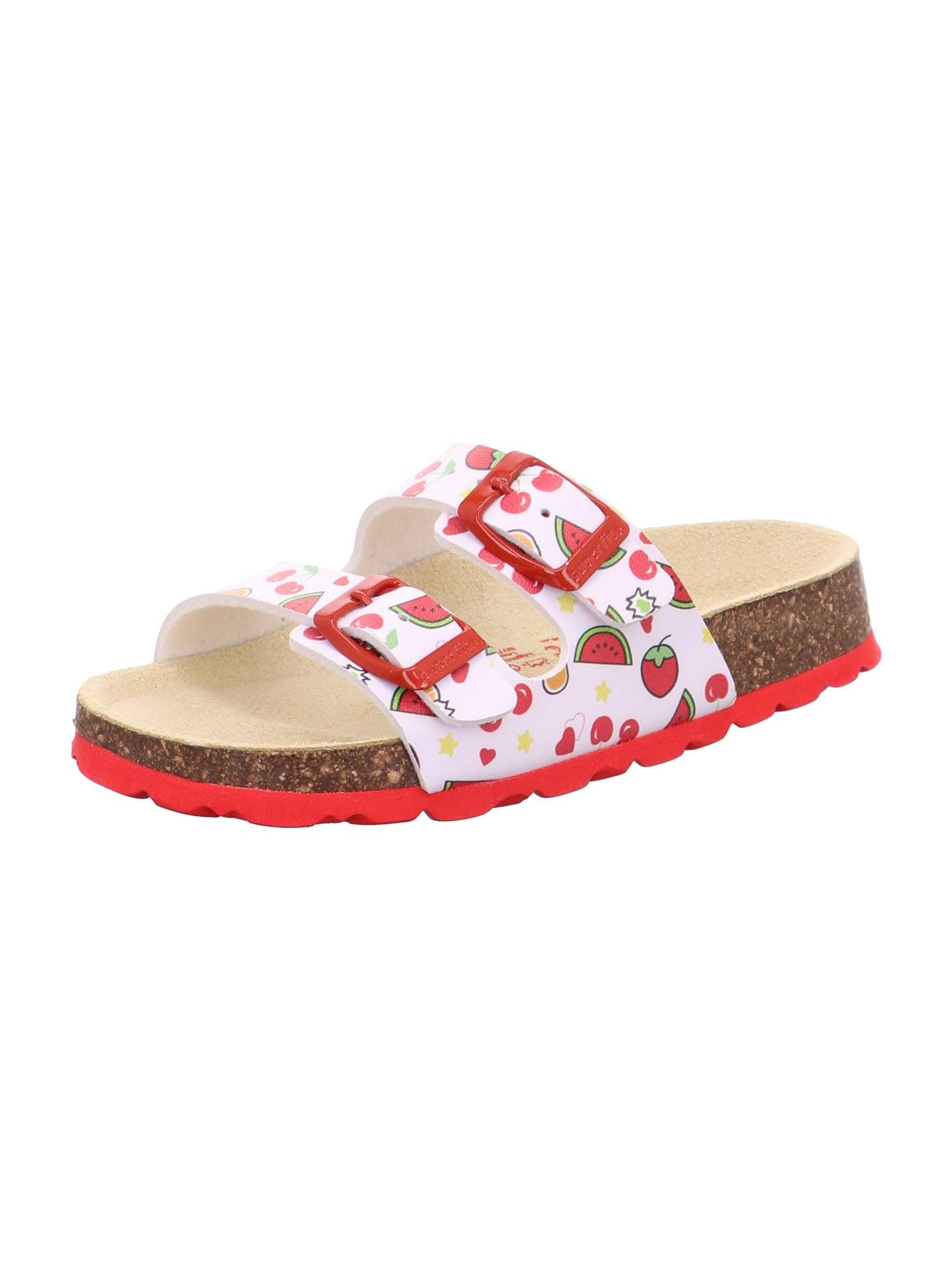 SUPERFIT Atviri batai balta / raudona