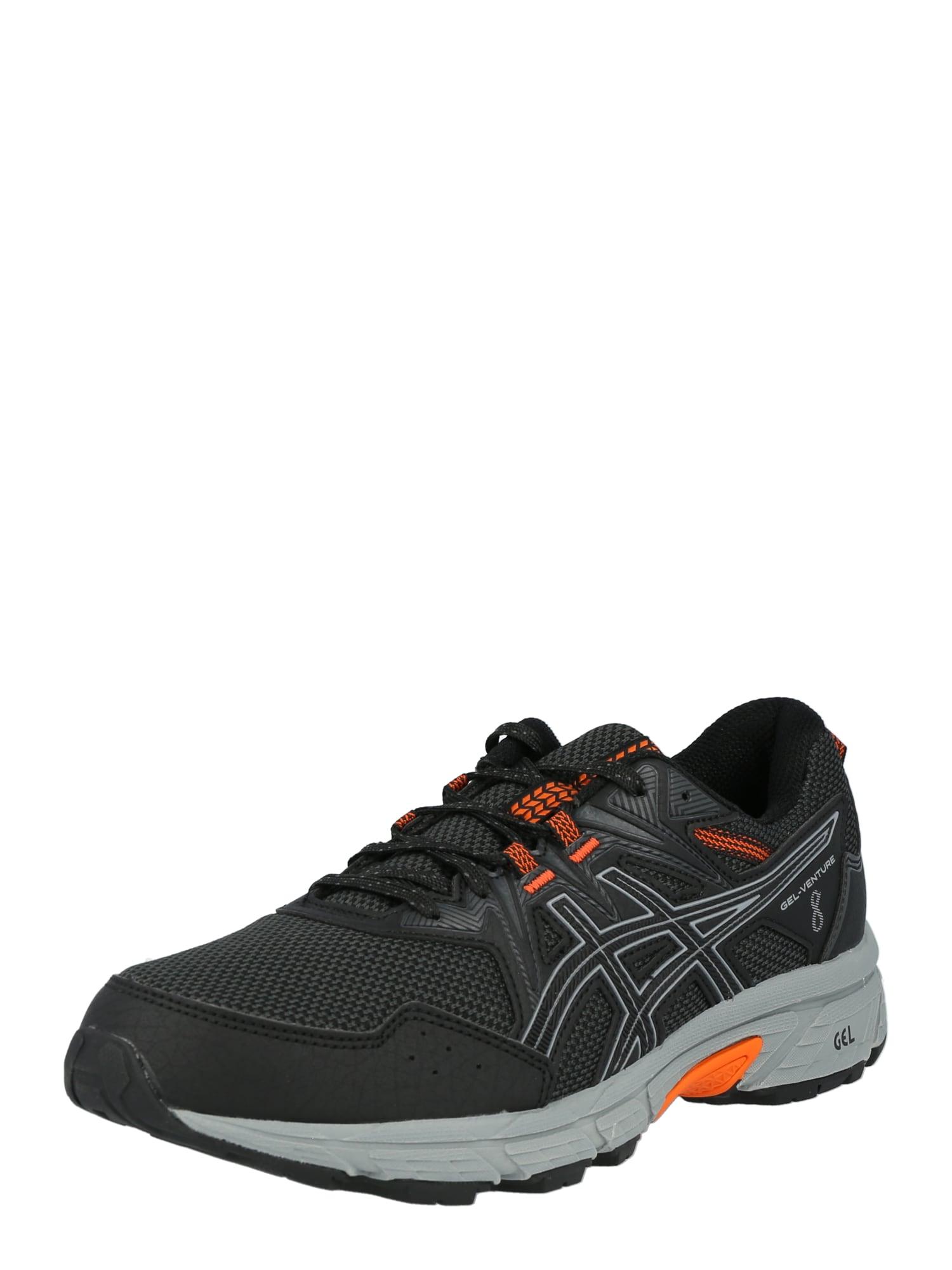 ASICS Bėgimo batai juoda / pilka / oranžinė