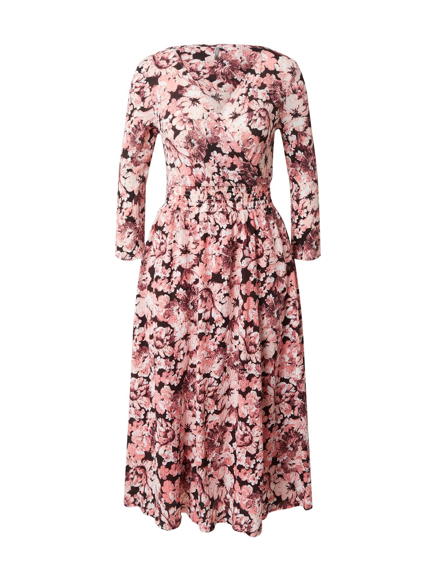 ONLY Šaty 'PELLA'  černá / bobule / bílá / světle růžová