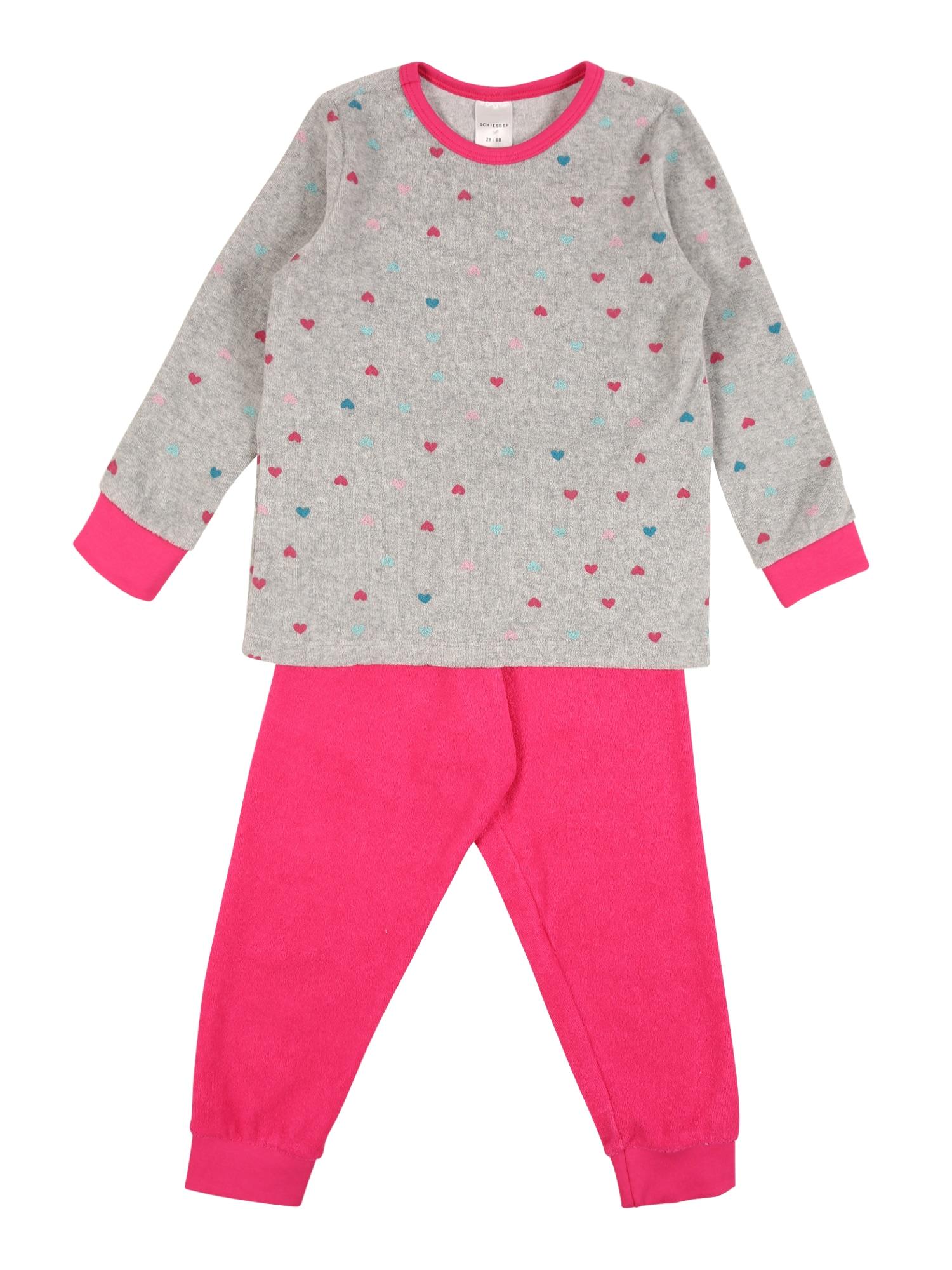SCHIESSER Pyžamo  pink / šedá