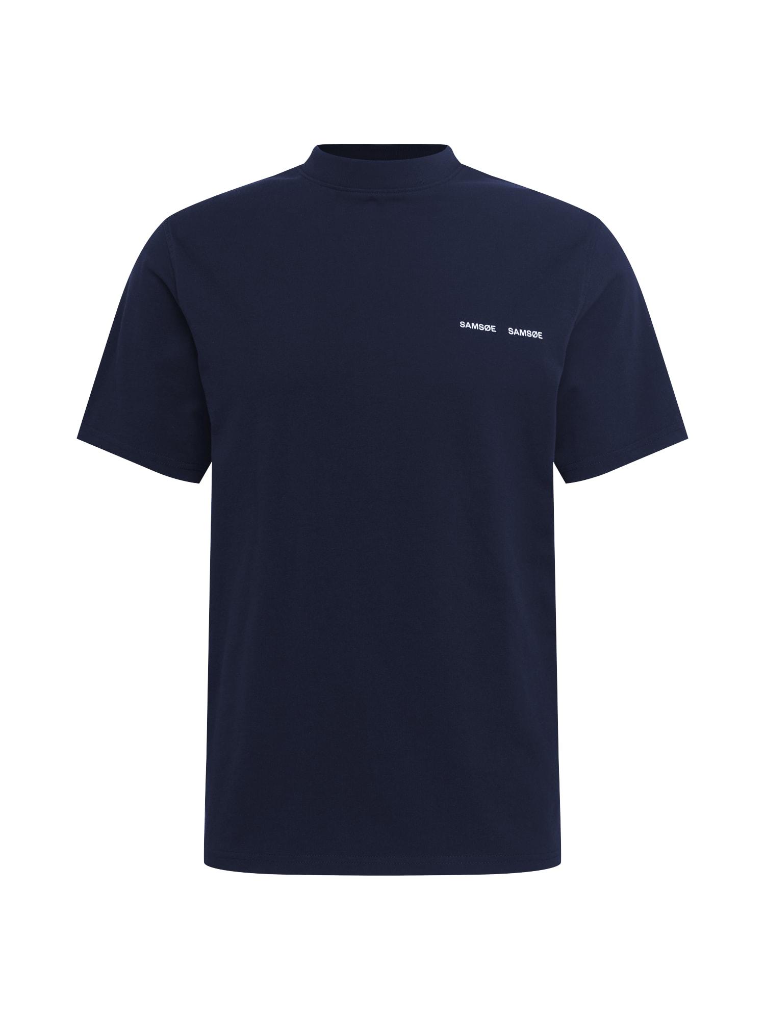 Samsoe Samsoe Tričko 'Norsbro'  tmavě modrá / bílá