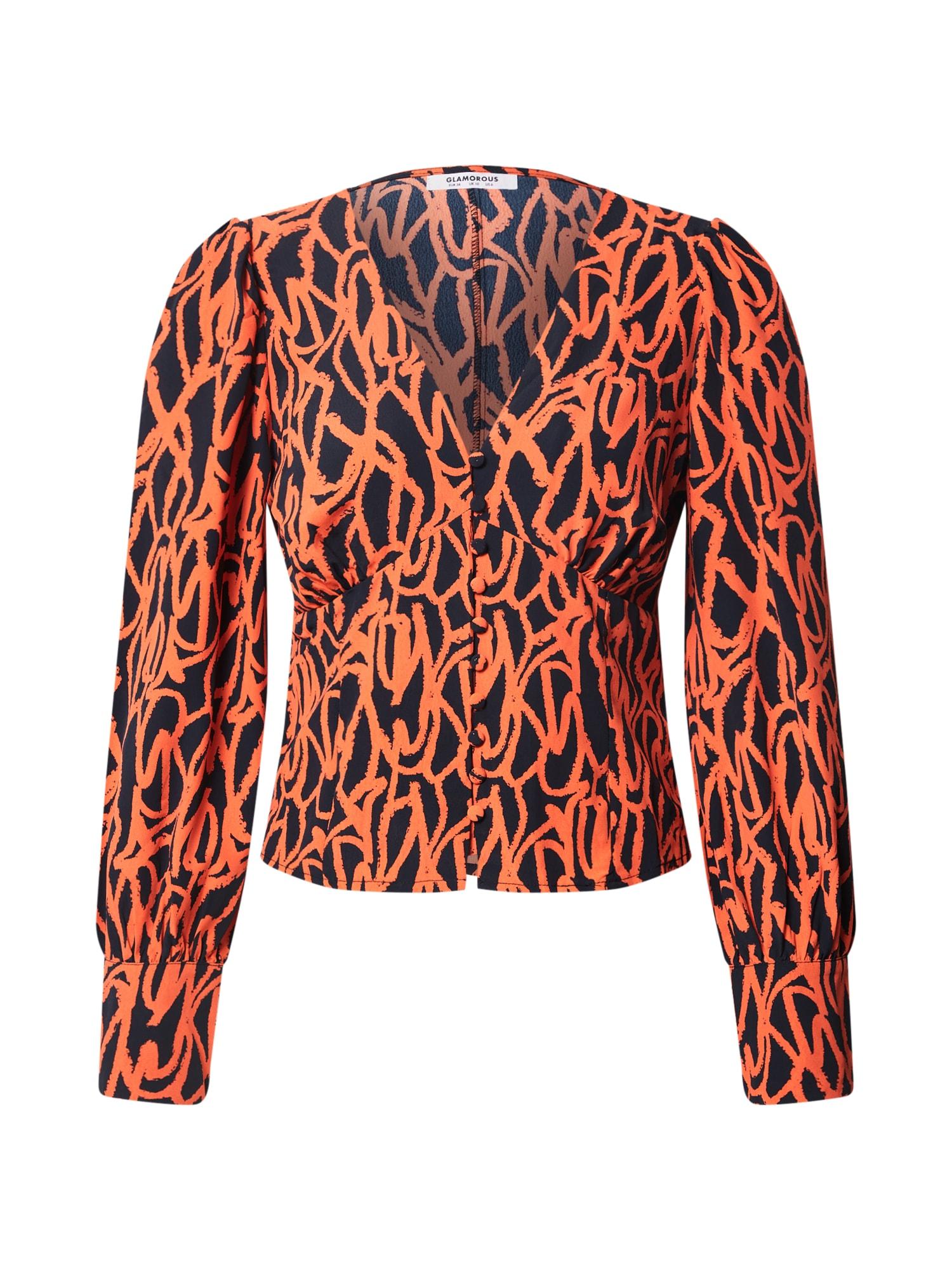 GLAMOROUS Halenka  oranžově červená / námořnická modř