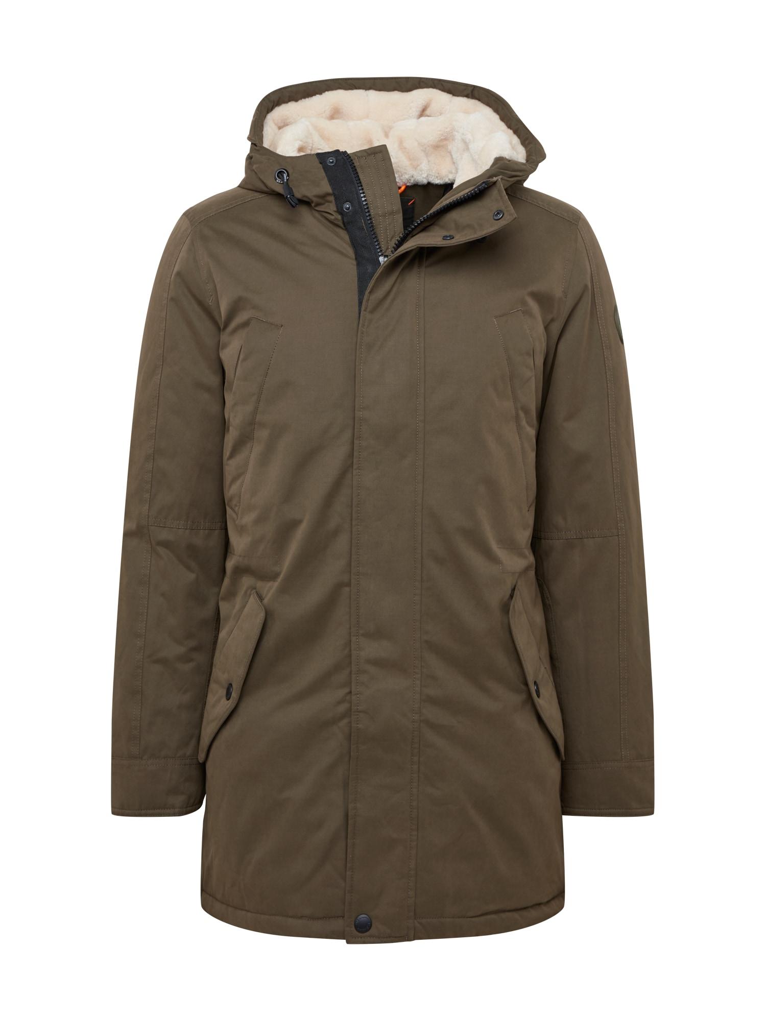 Q/S designed by Žieminis paltas rusvai žalia