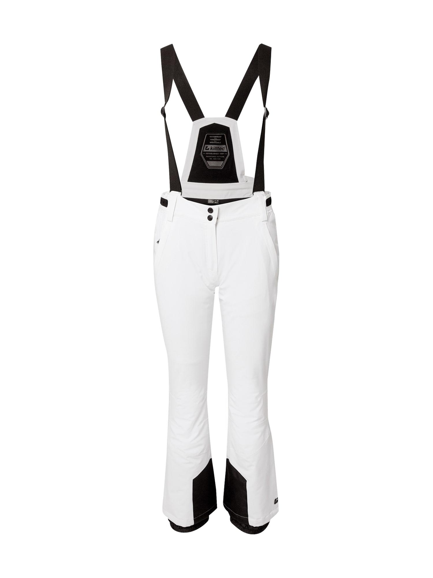 KILLTEC Sportovní kalhoty 'Erielle'  bílá / černá