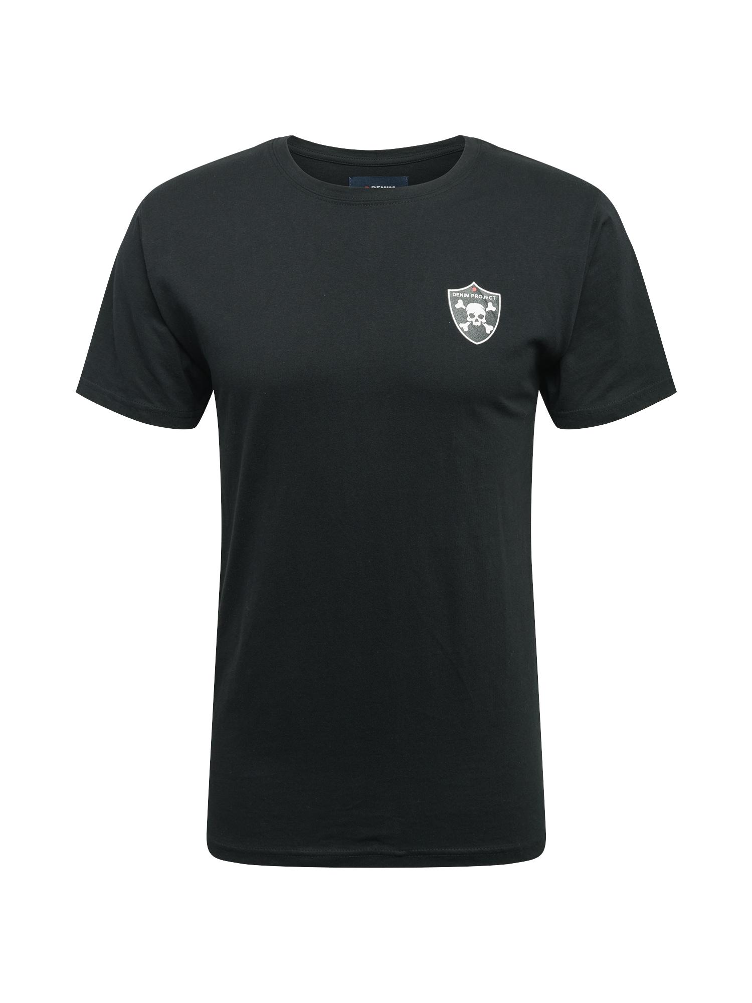 Denim Project Marškinėliai juoda / balta / raudona