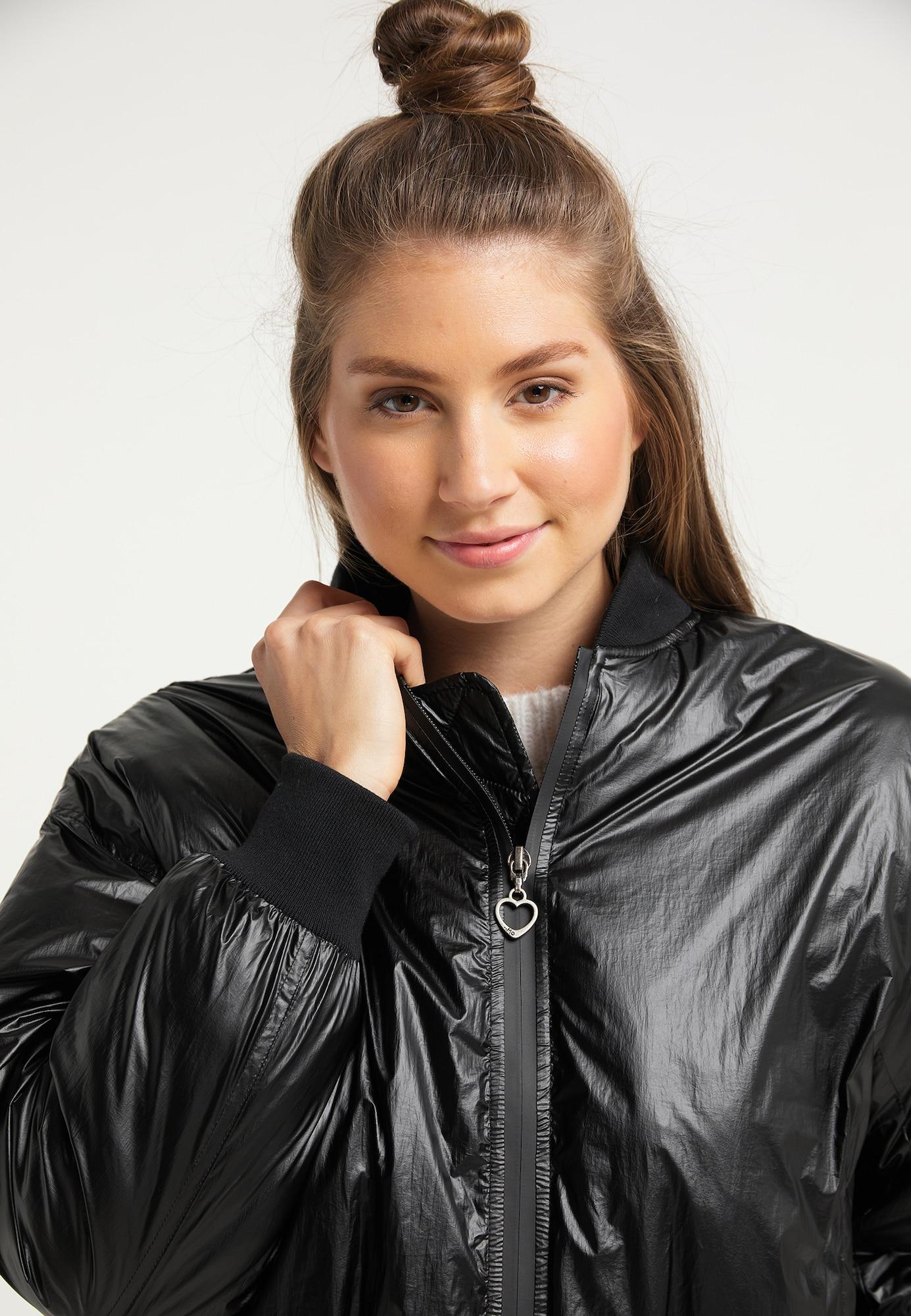 MYMO Prechodná bunda  čierna.