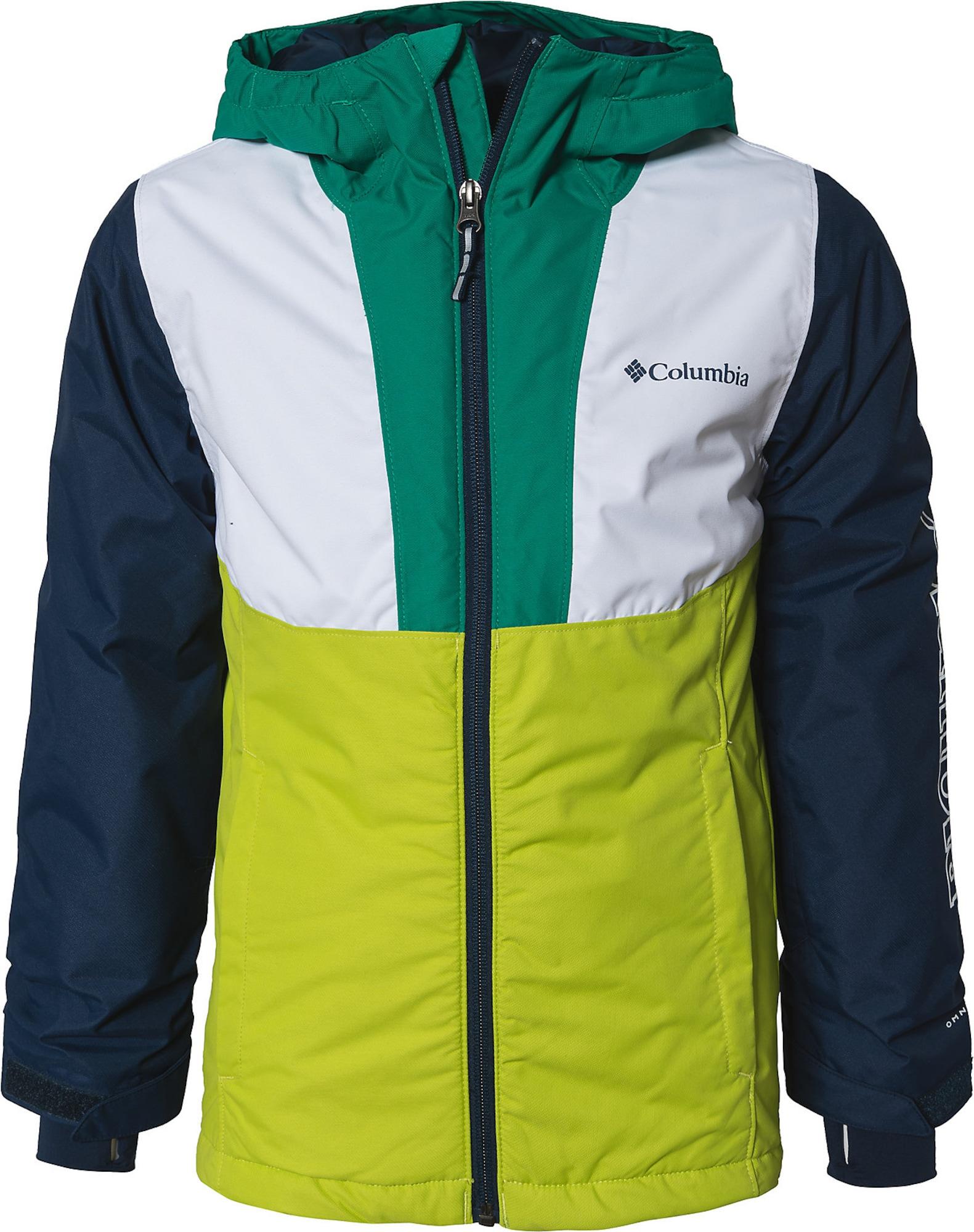 COLUMBIA Laisvalaikio striukė balta / tamsiai mėlyna / smaragdinė spalva / kivių spalva