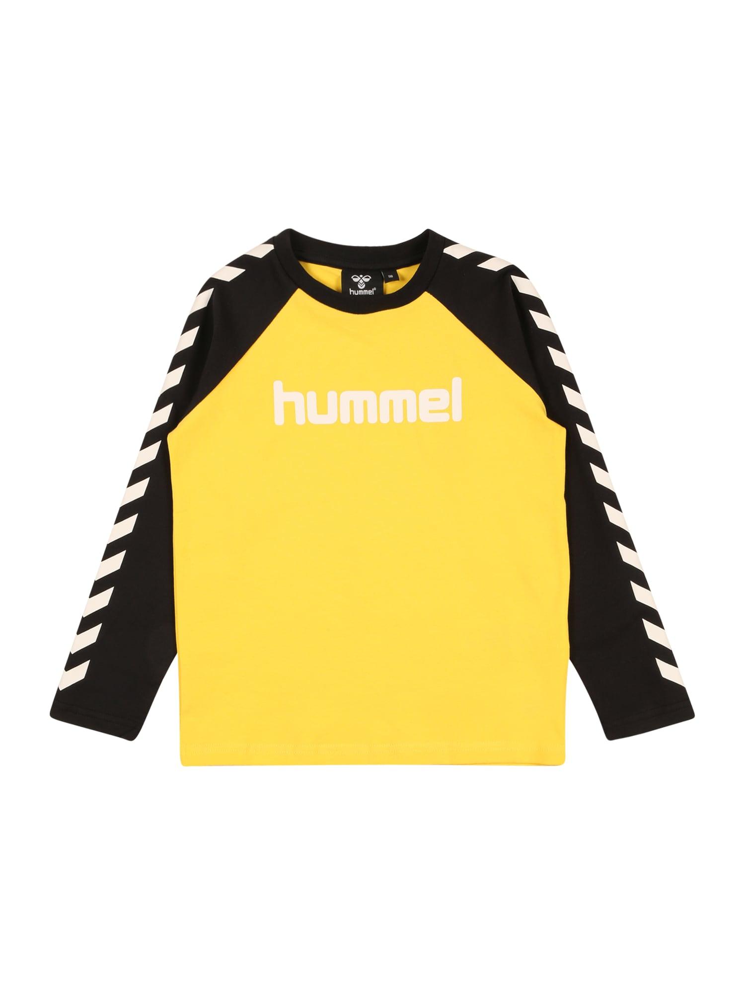 Hummel Marškinėliai geltona / balta / juoda