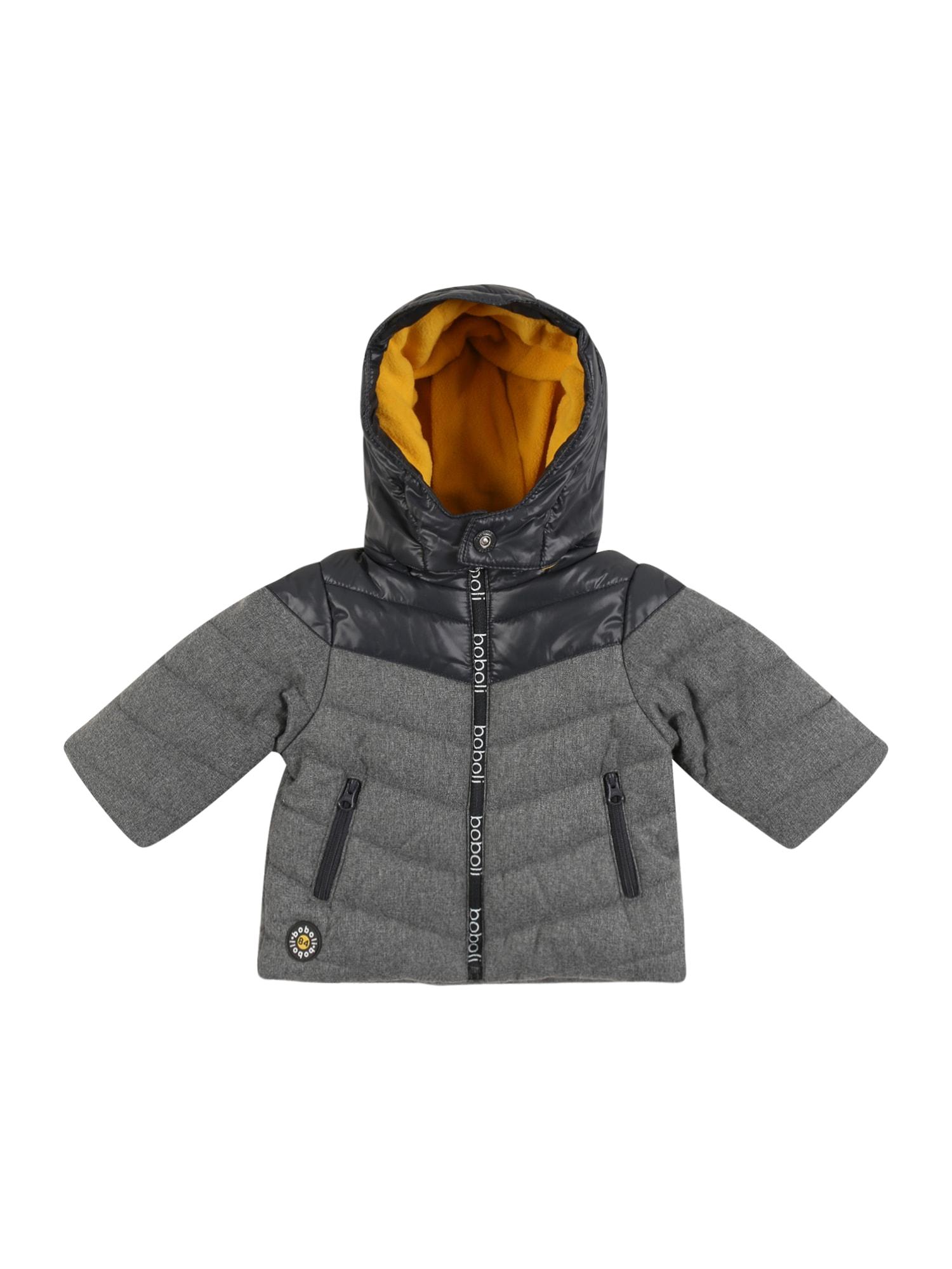 Boboli Přechodná bunda  antracitová / šedý melír