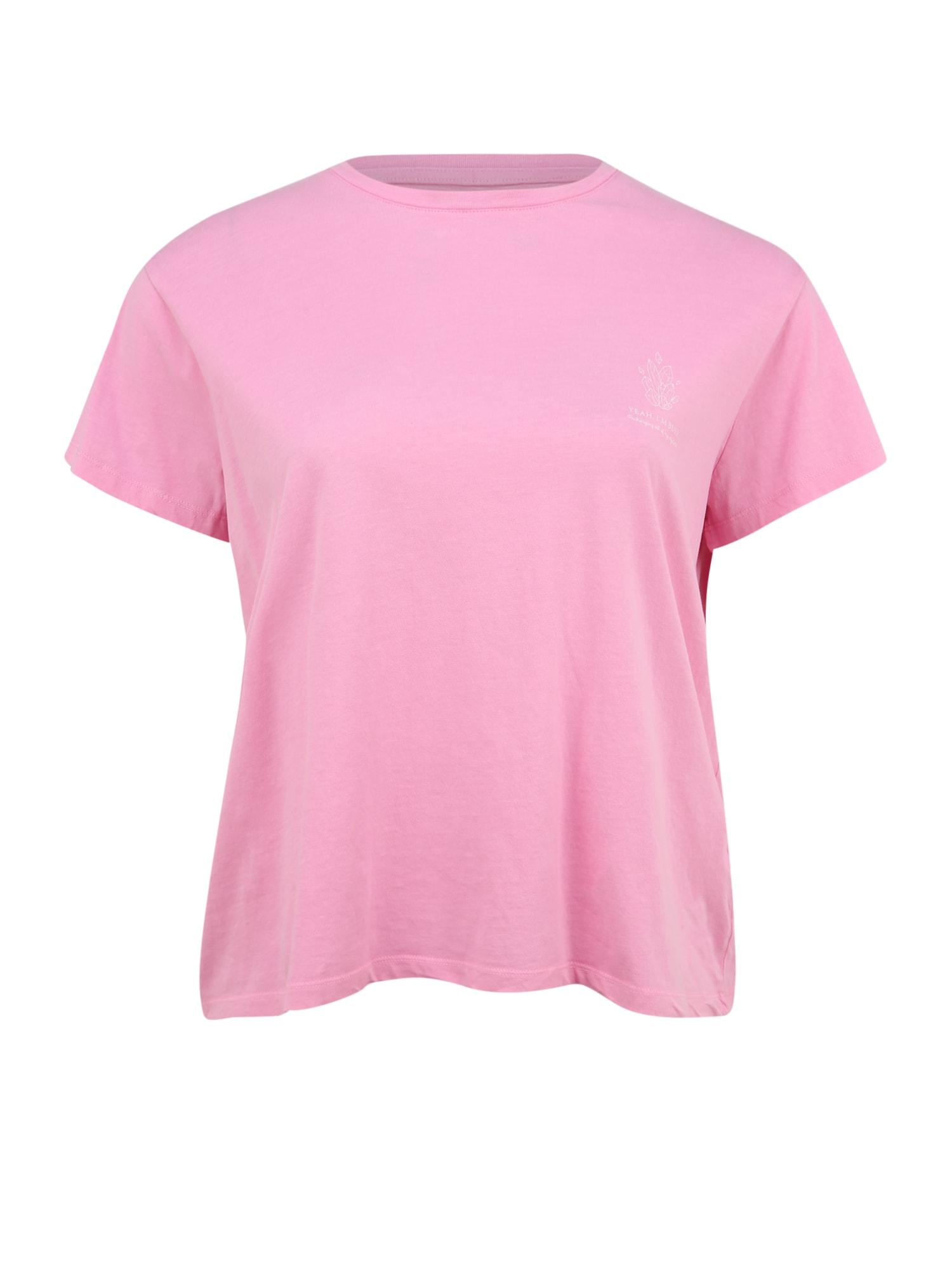 Cotton On Curve Marškinėliai rožių spalva