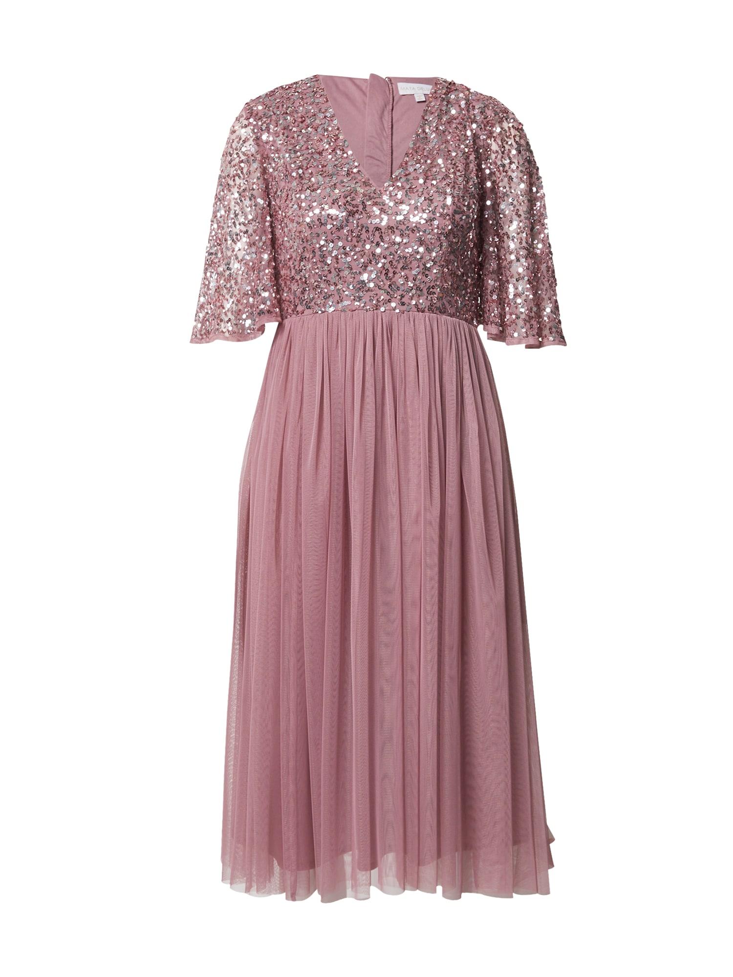 Maya Deluxe Kokteilinė suknelė rožinė / sidabrinė