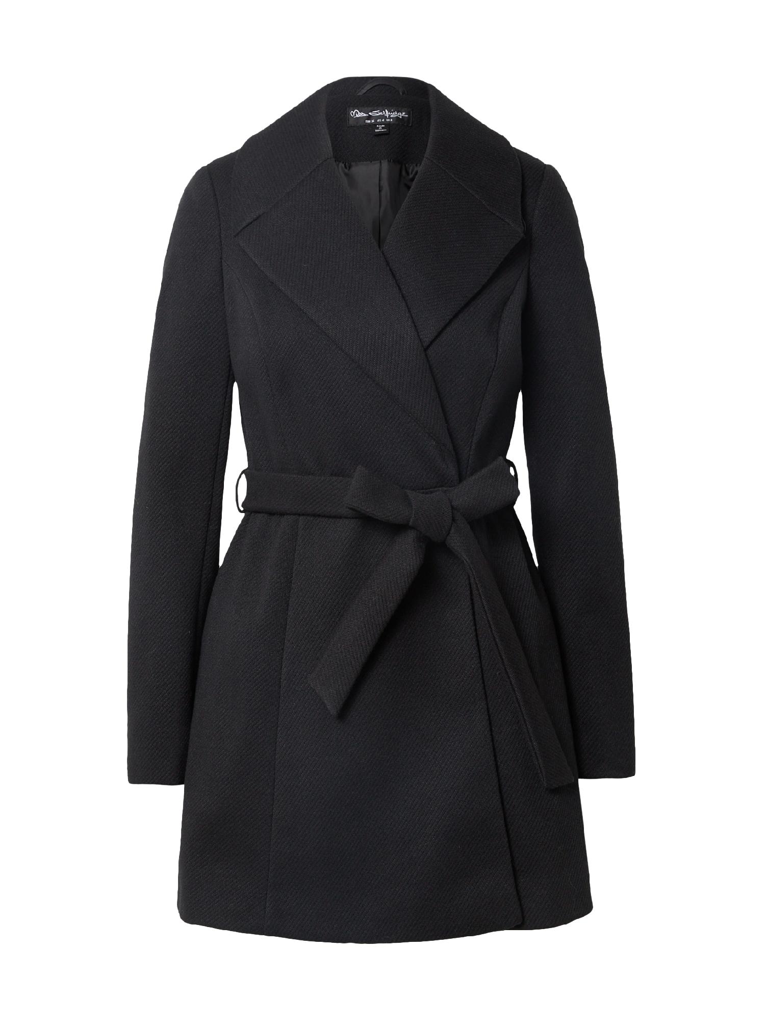 Miss Selfridge Demisezoninis paltas juoda