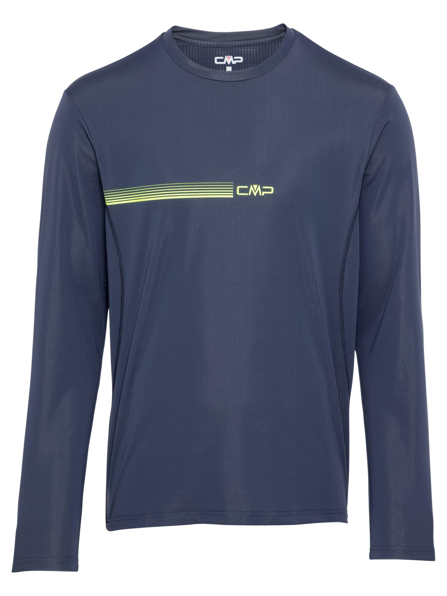 CMP Sportiniai marškinėliai tamsiai mėlyna jūros spalva / neoninė geltona