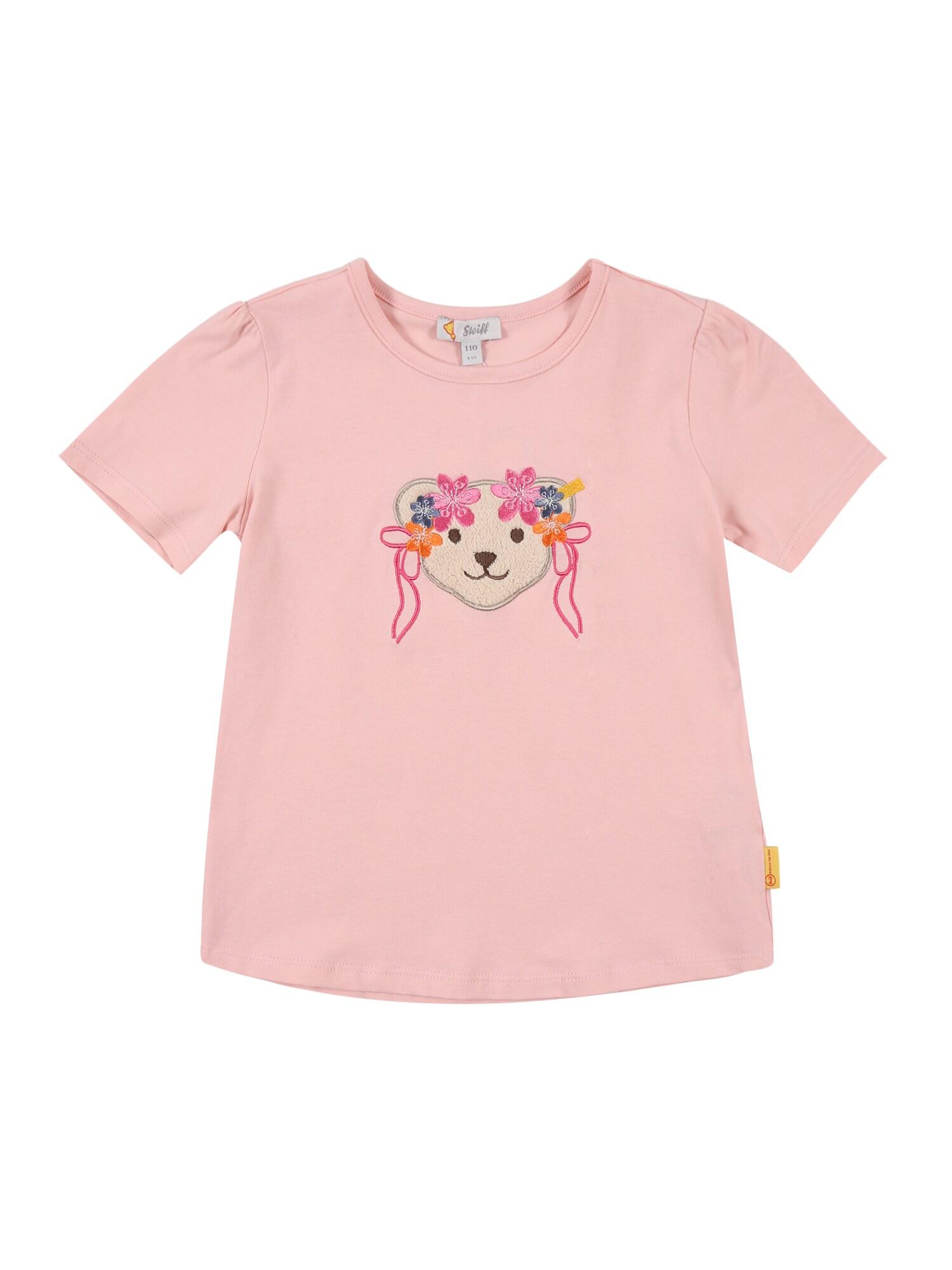 Steiff Collection Marškinėliai ryškiai rožinė spalva / mišrios spalvos