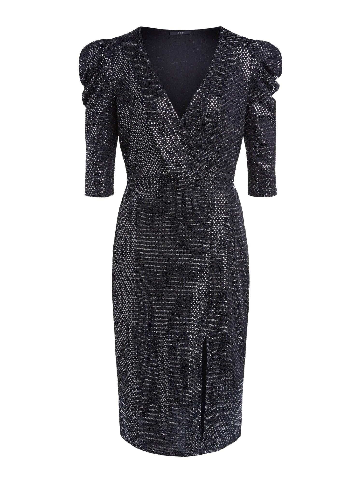 SET Koktejlové šaty  černá