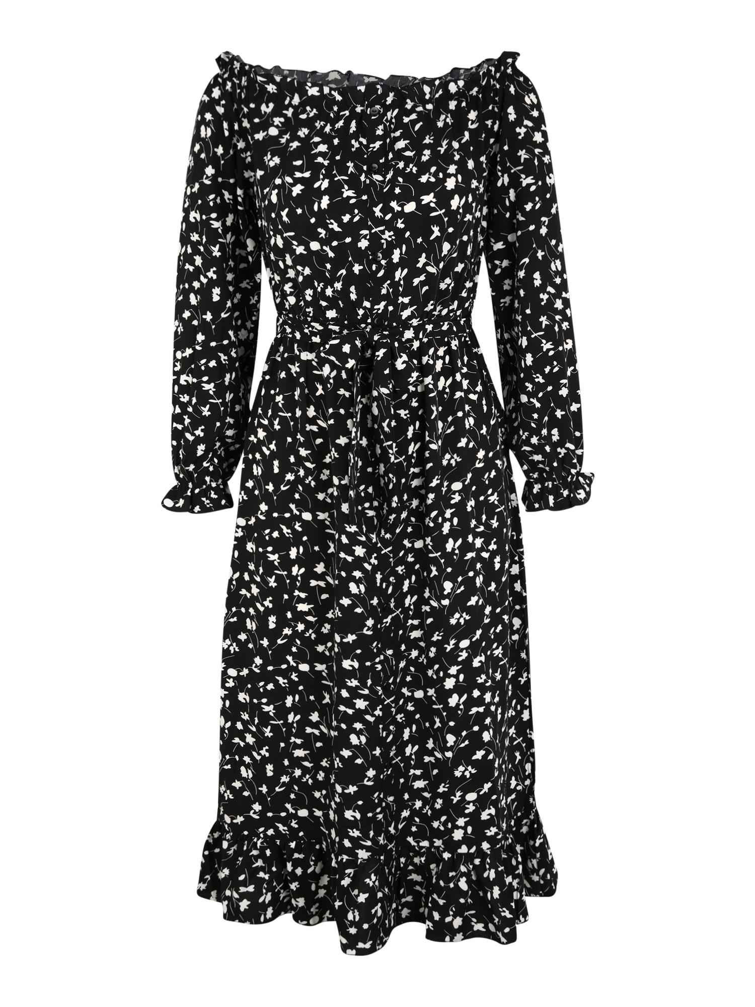 Missguided (Petite) Suknelė juoda / balta