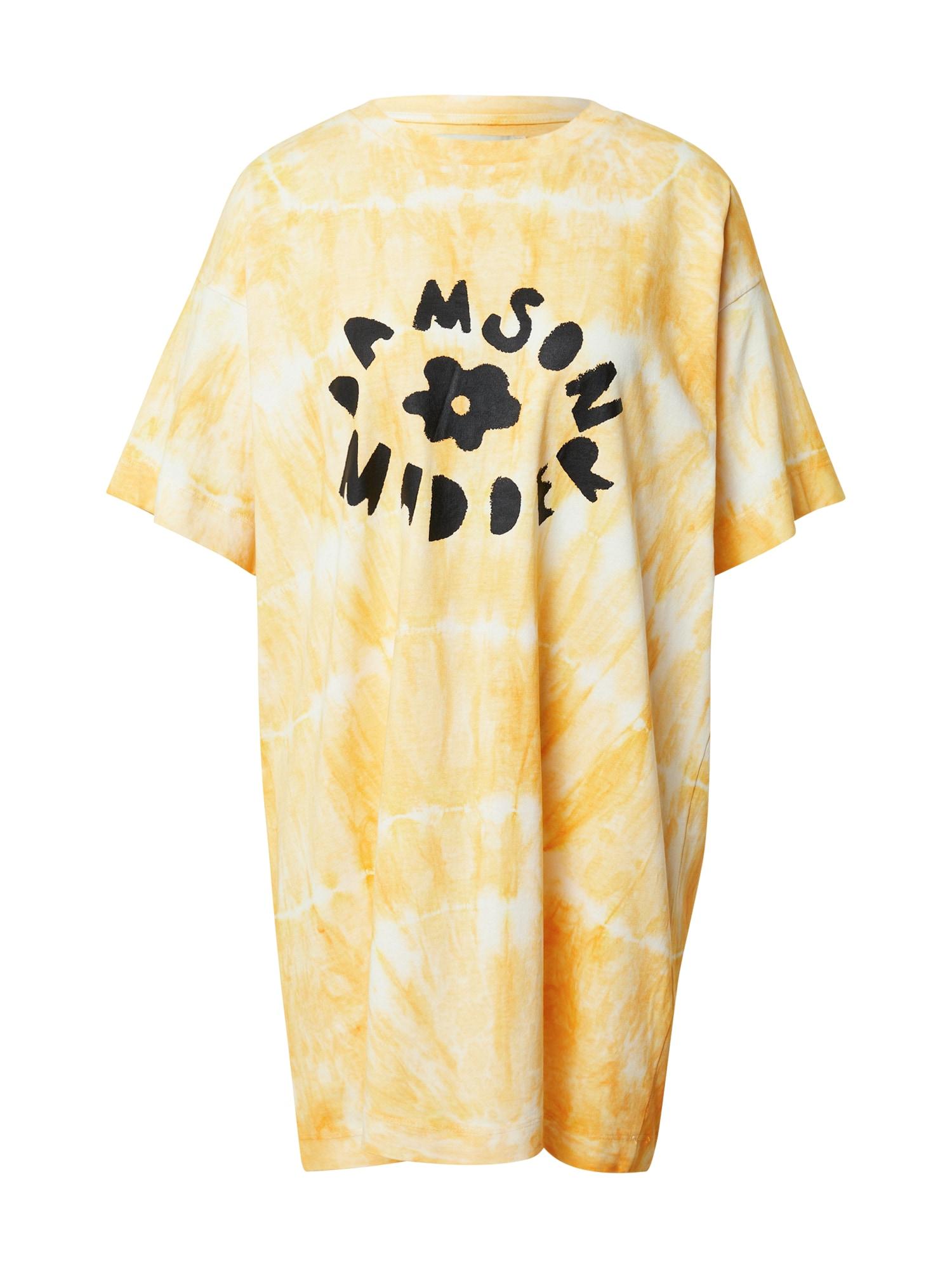 Damson Madder Suknelė oranžinė / balta / juoda