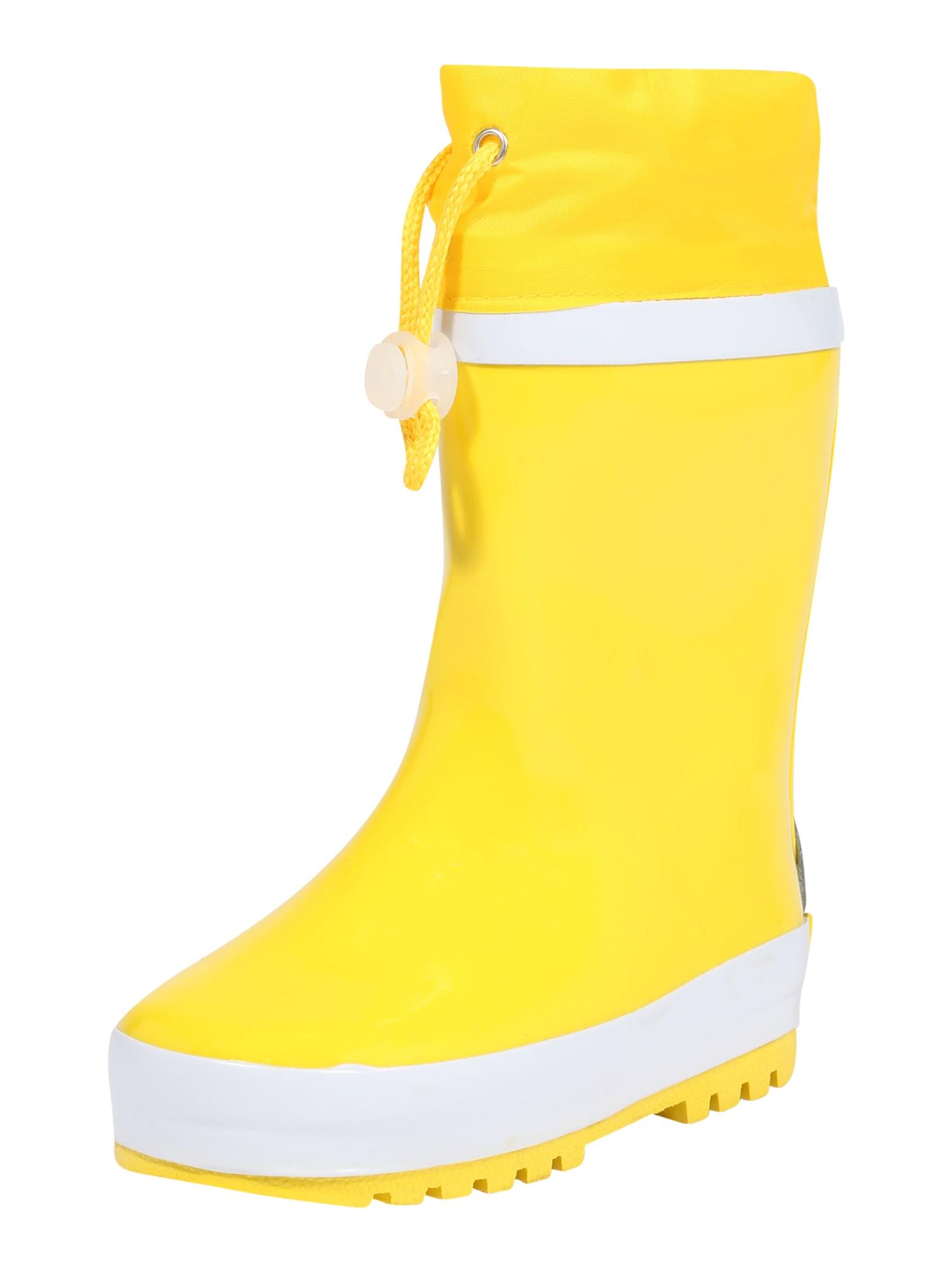 PLAYSHOES Guminiai batai šviesiai pilka / neoninė geltona