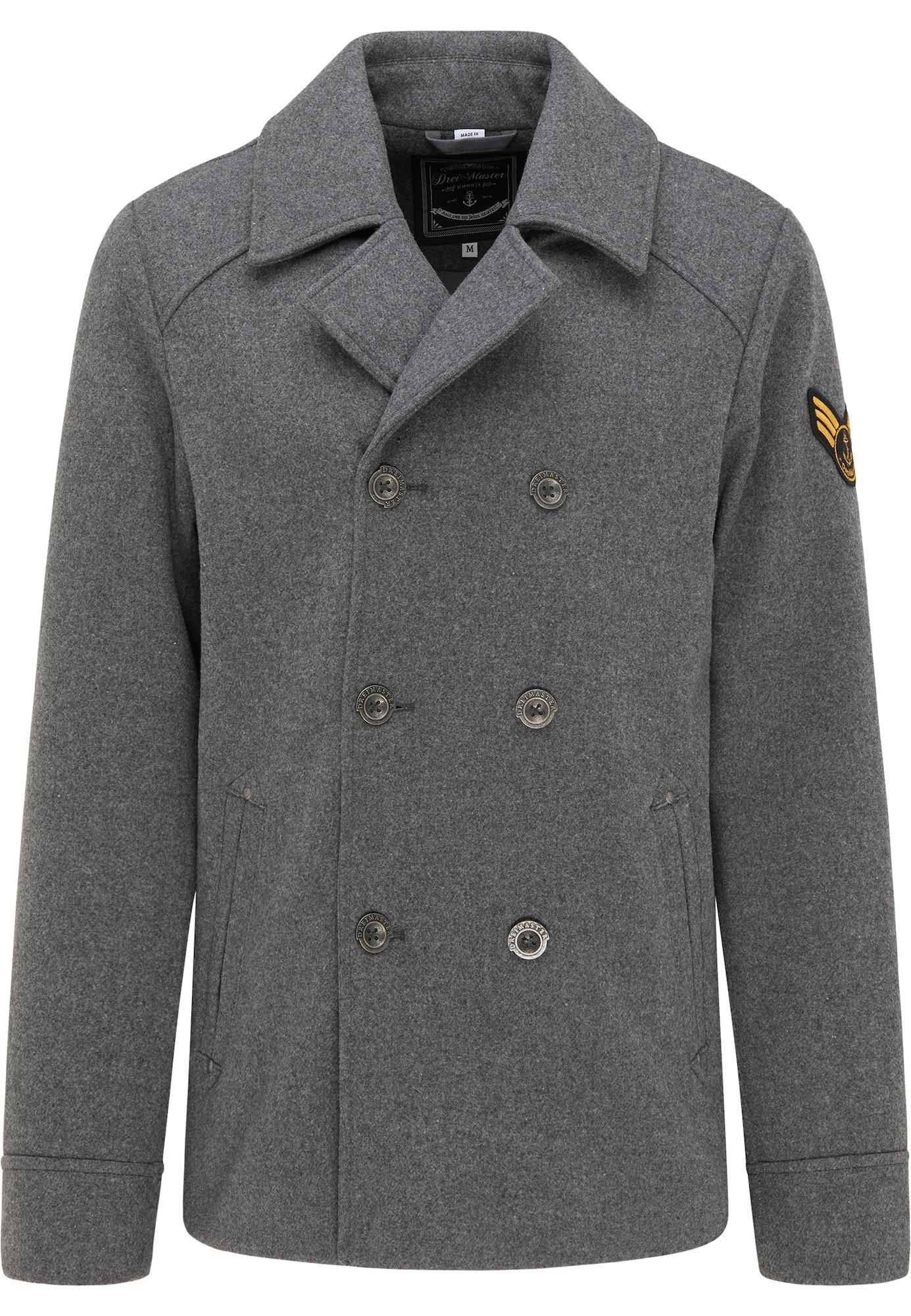 DreiMaster Maritim Demisezoninis paltas bazalto pilka