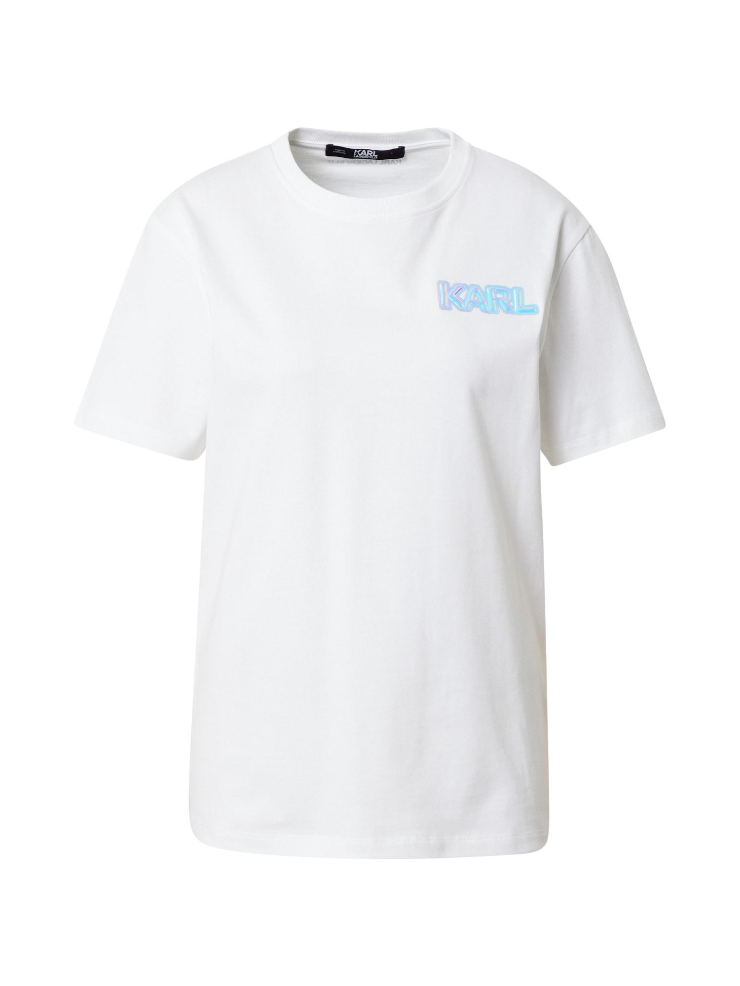 Karl Lagerfeld Marškinėliai balta / turkio spalva