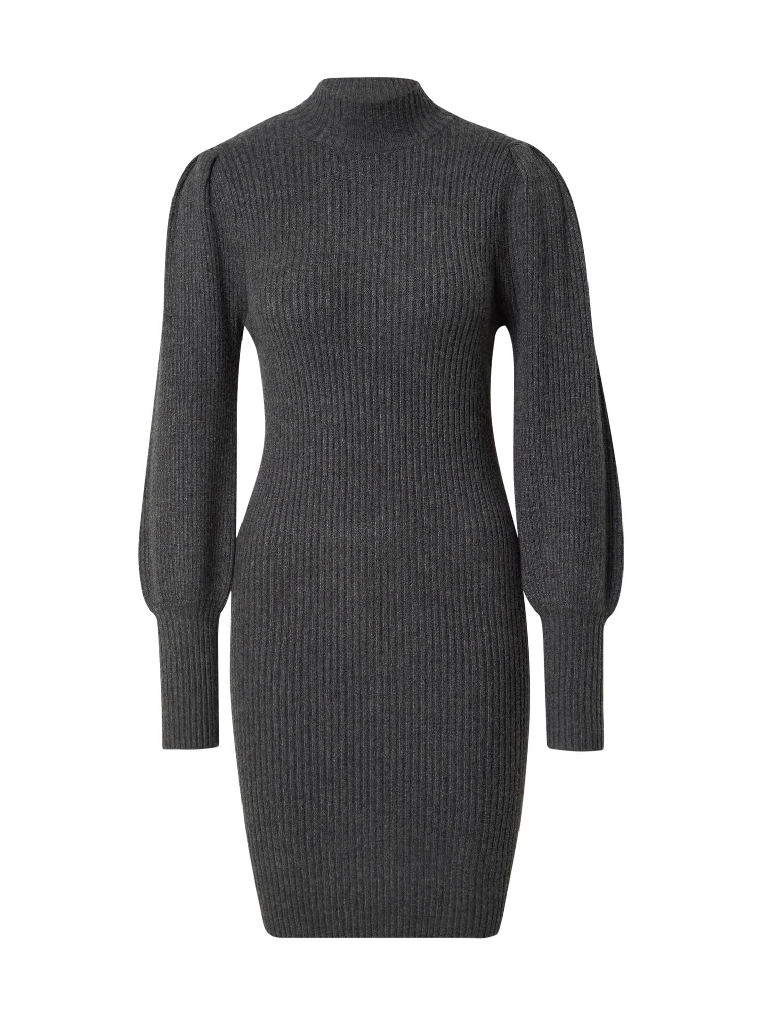 ONLY Úpletové šaty 'KATIA'  tmavě šedá
