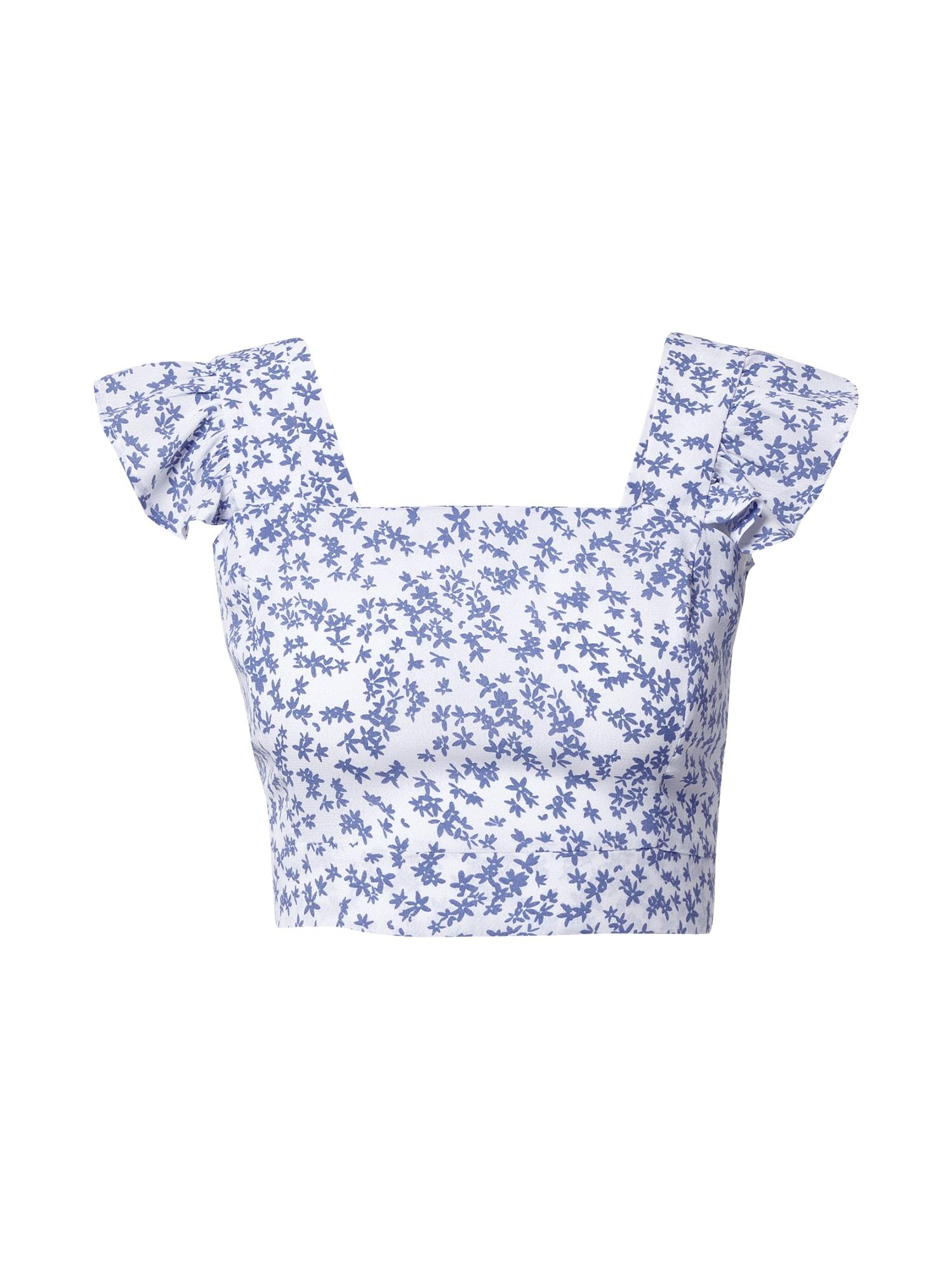 Cotton On Palaidinė be rankovių 'Fifi' balta / mėlyna