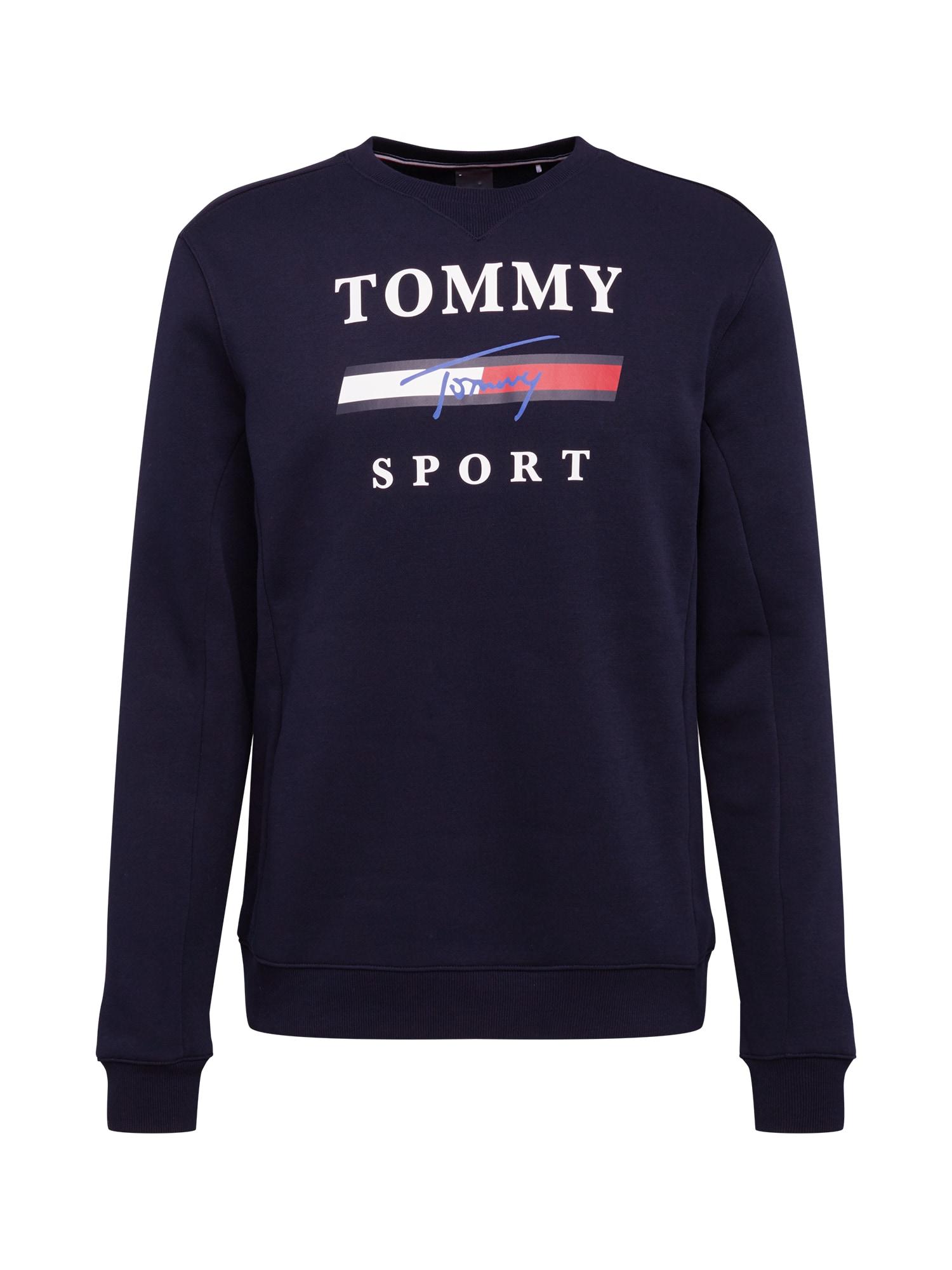 Tommy Sport Sportinio tipo megztinis tamsiai mėlyna / balta / raudona