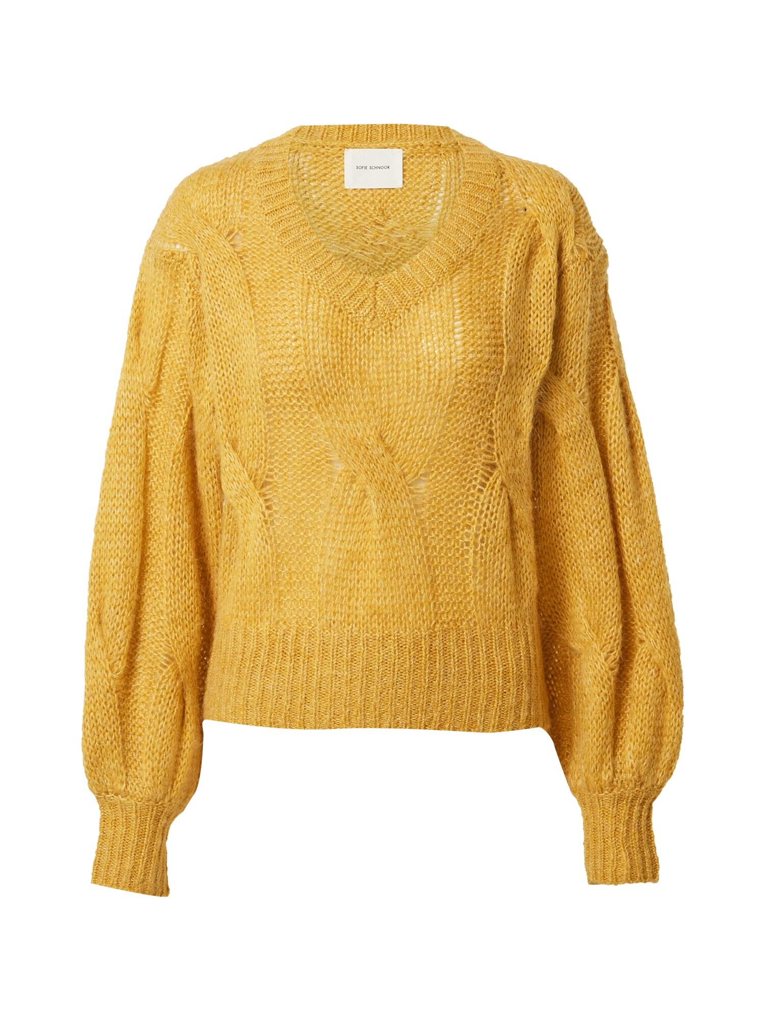 Sofie Schnoor Megztinis tamsiai geltona